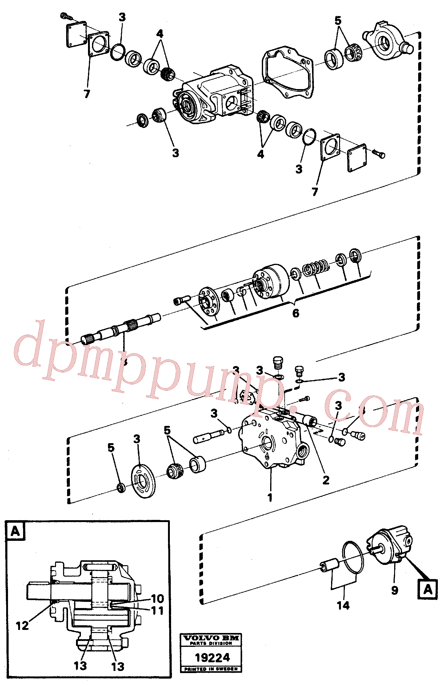VOE6213370 for Volvo Hydraulic pump(19224 assembly)