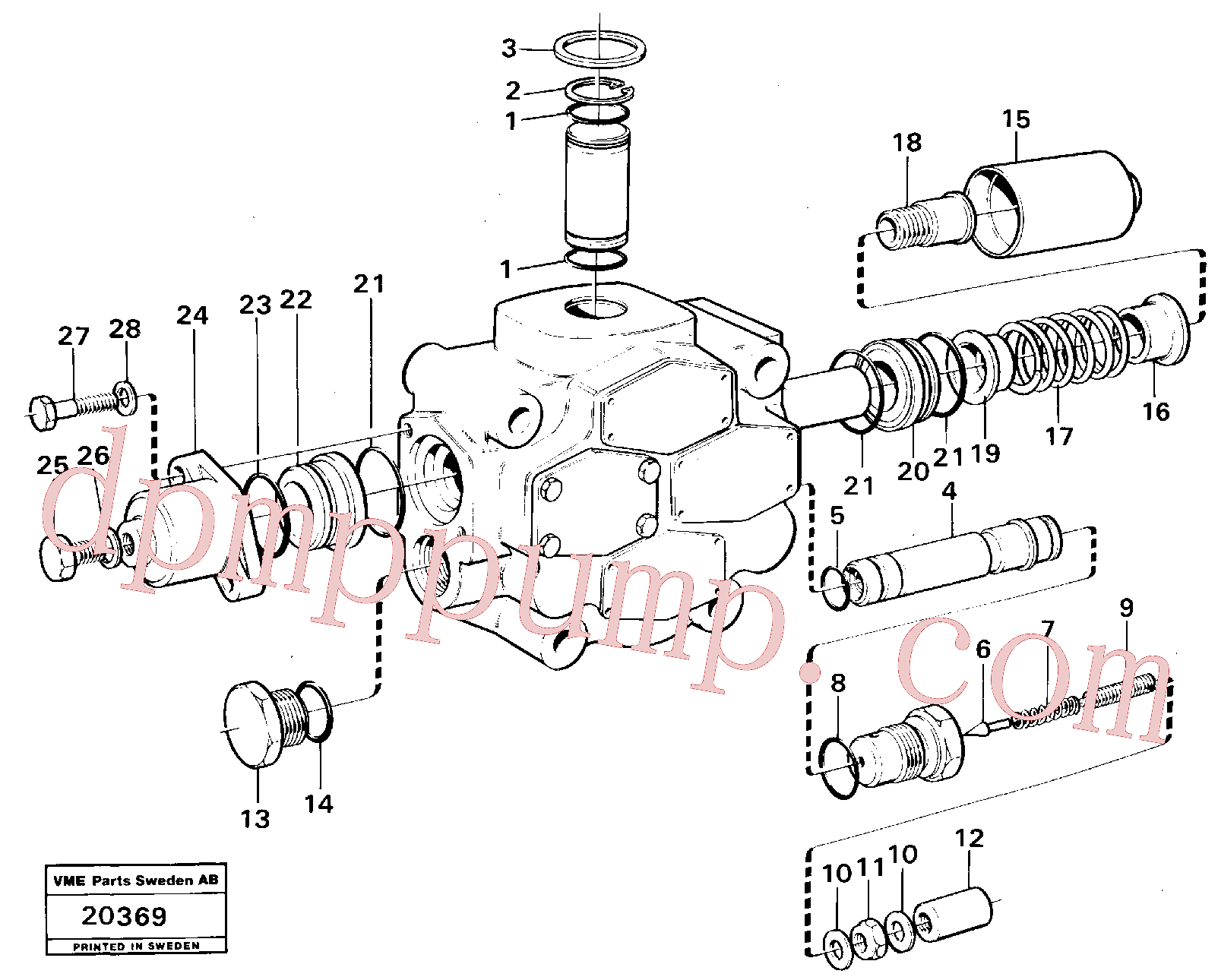VOE6631316 for Volvo Control valve.(20369 assembly)