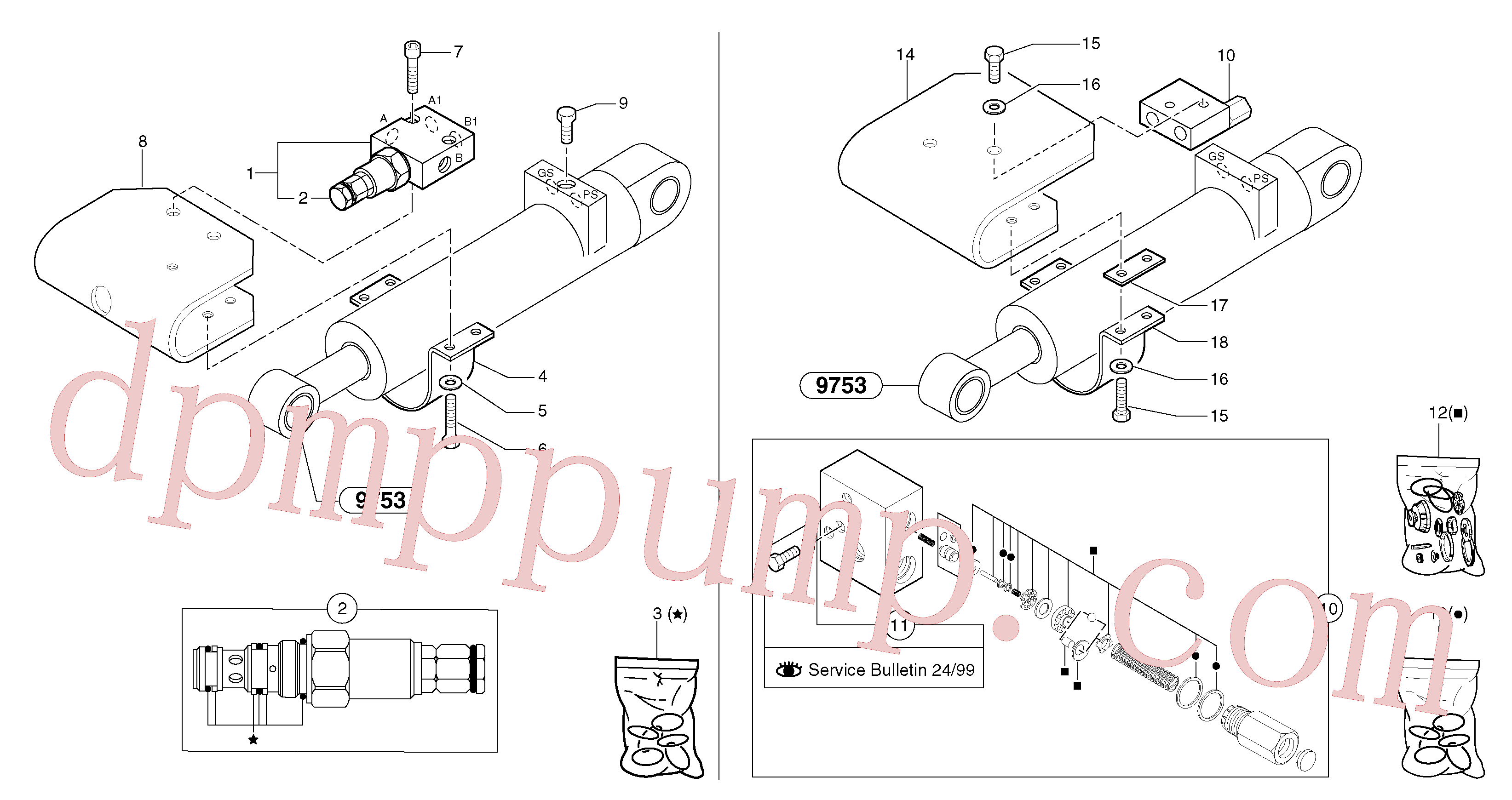 PJ6090033 for Volvo Safety valve ( dipper arm cylinder )(91236X1 assembly)