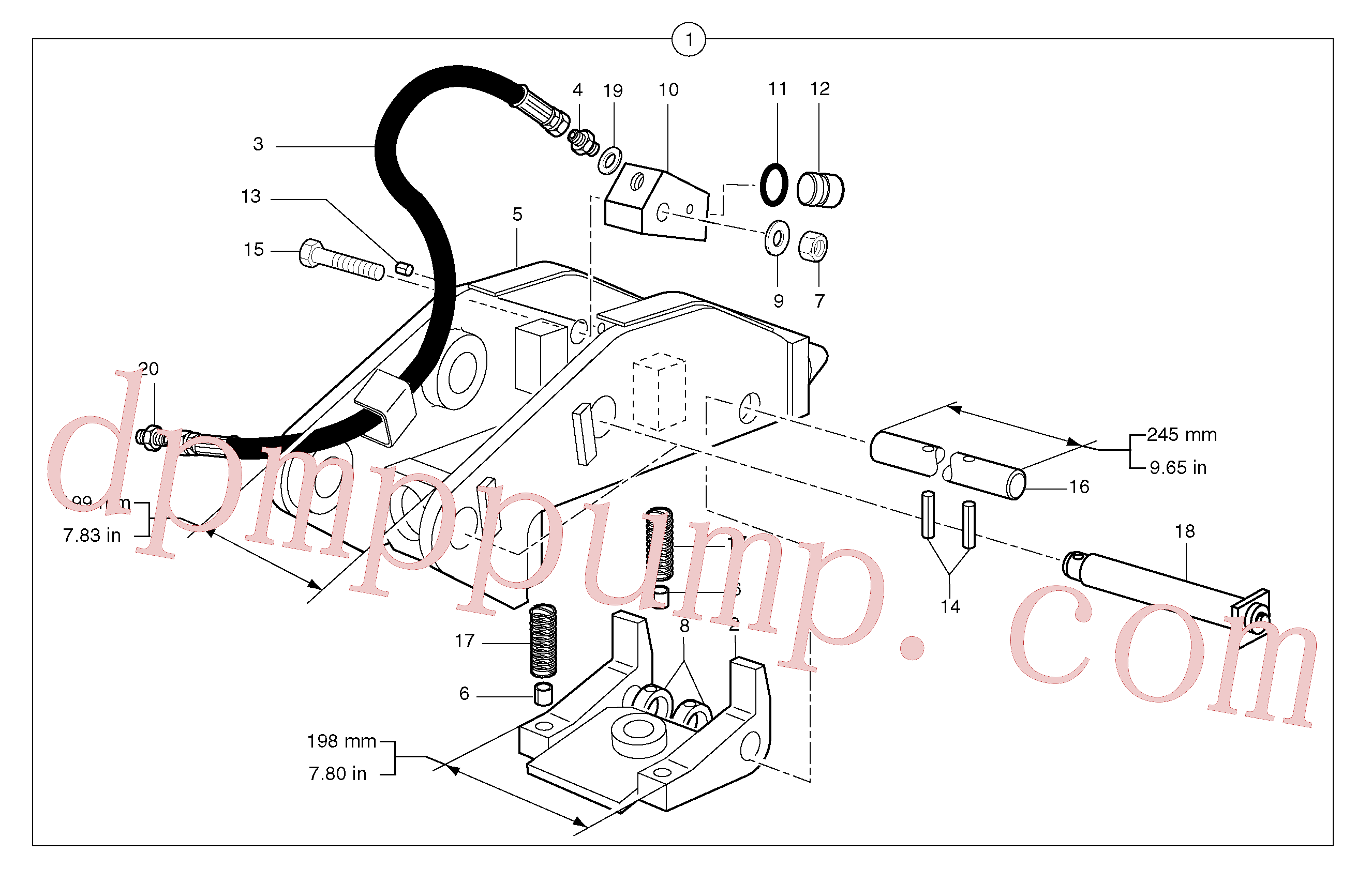 PJ3870094 for Volvo Tool holder / hydraulic control(9241HY3 assembly)