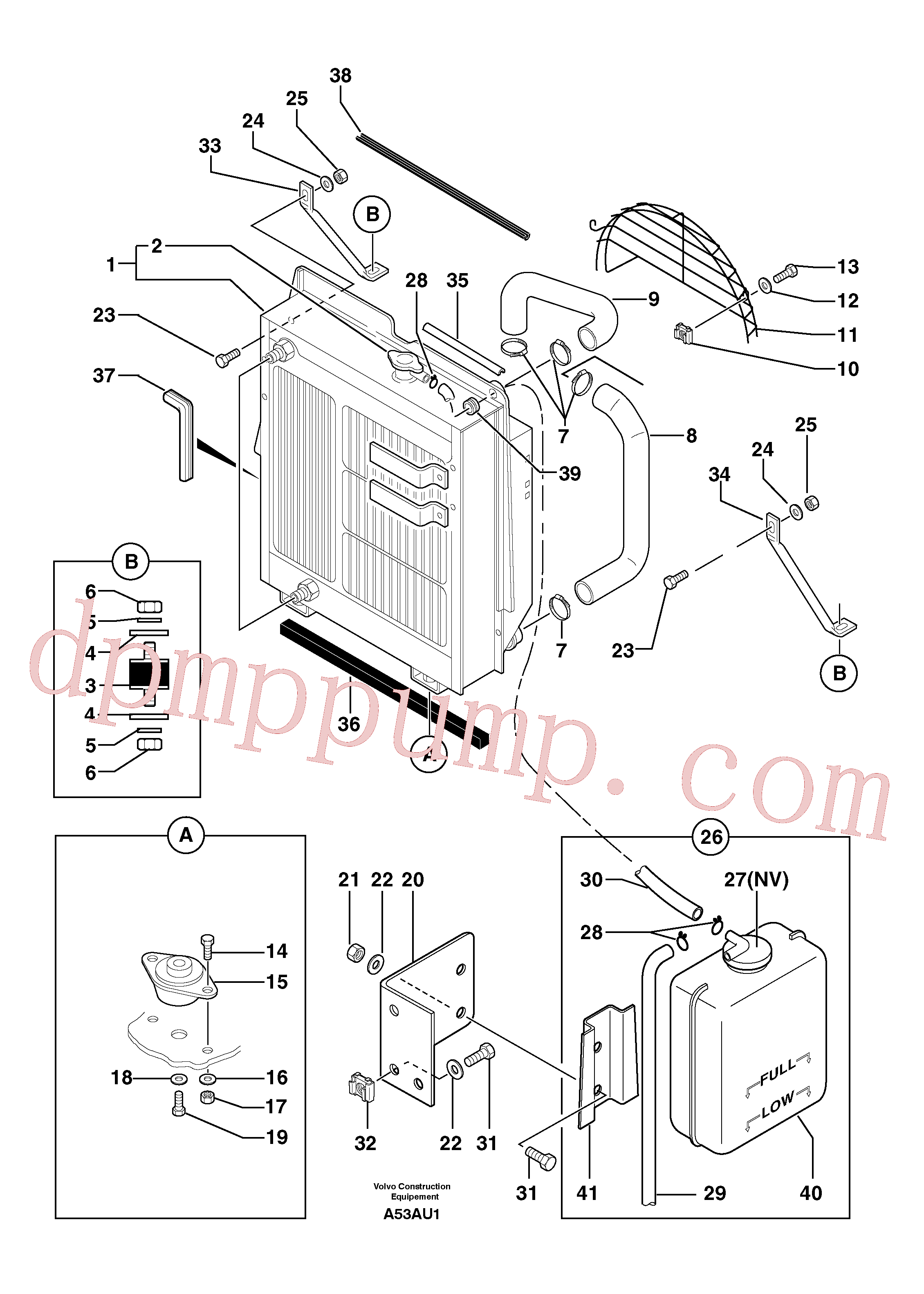 VOE11806184 for Volvo Radiator ( water ) / oil cooler(A53AU1 assembly)