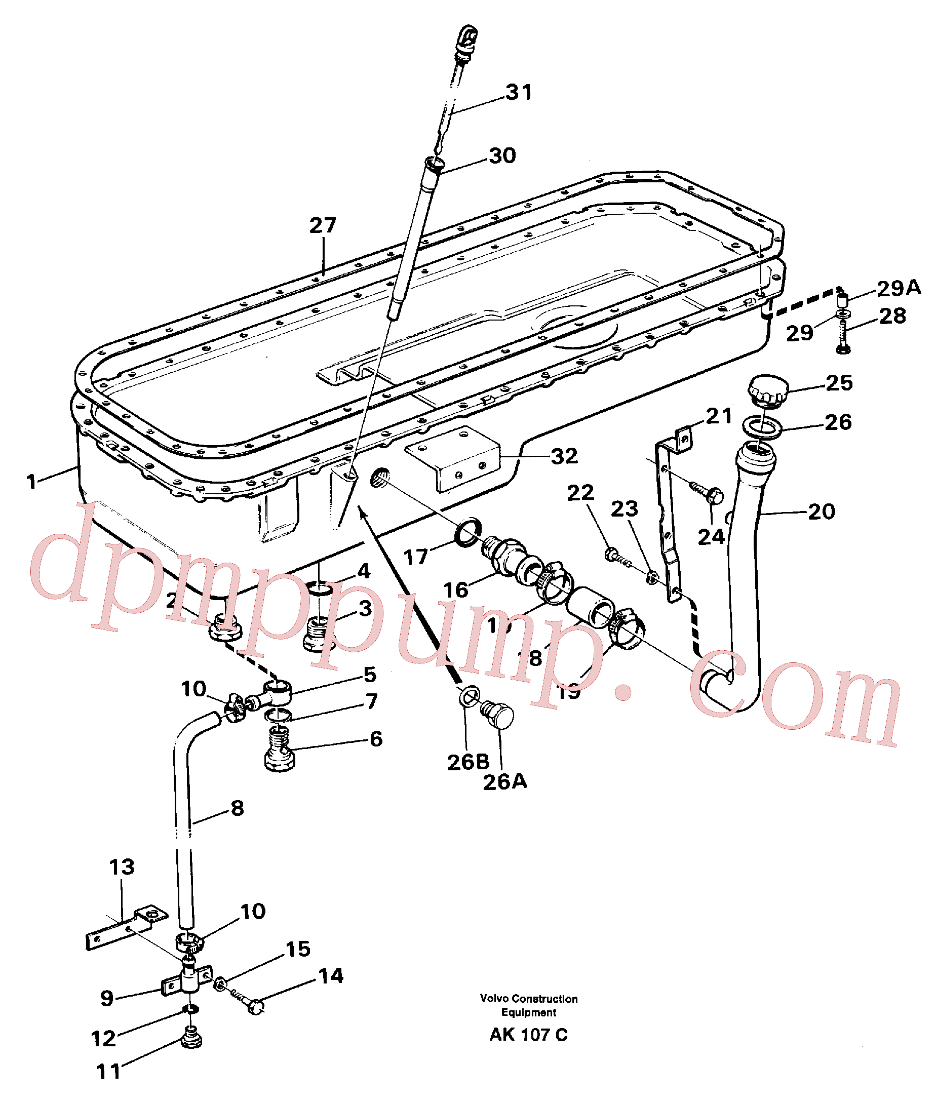 VOE1275379 for Volvo Oil sump(AK107C assembly)