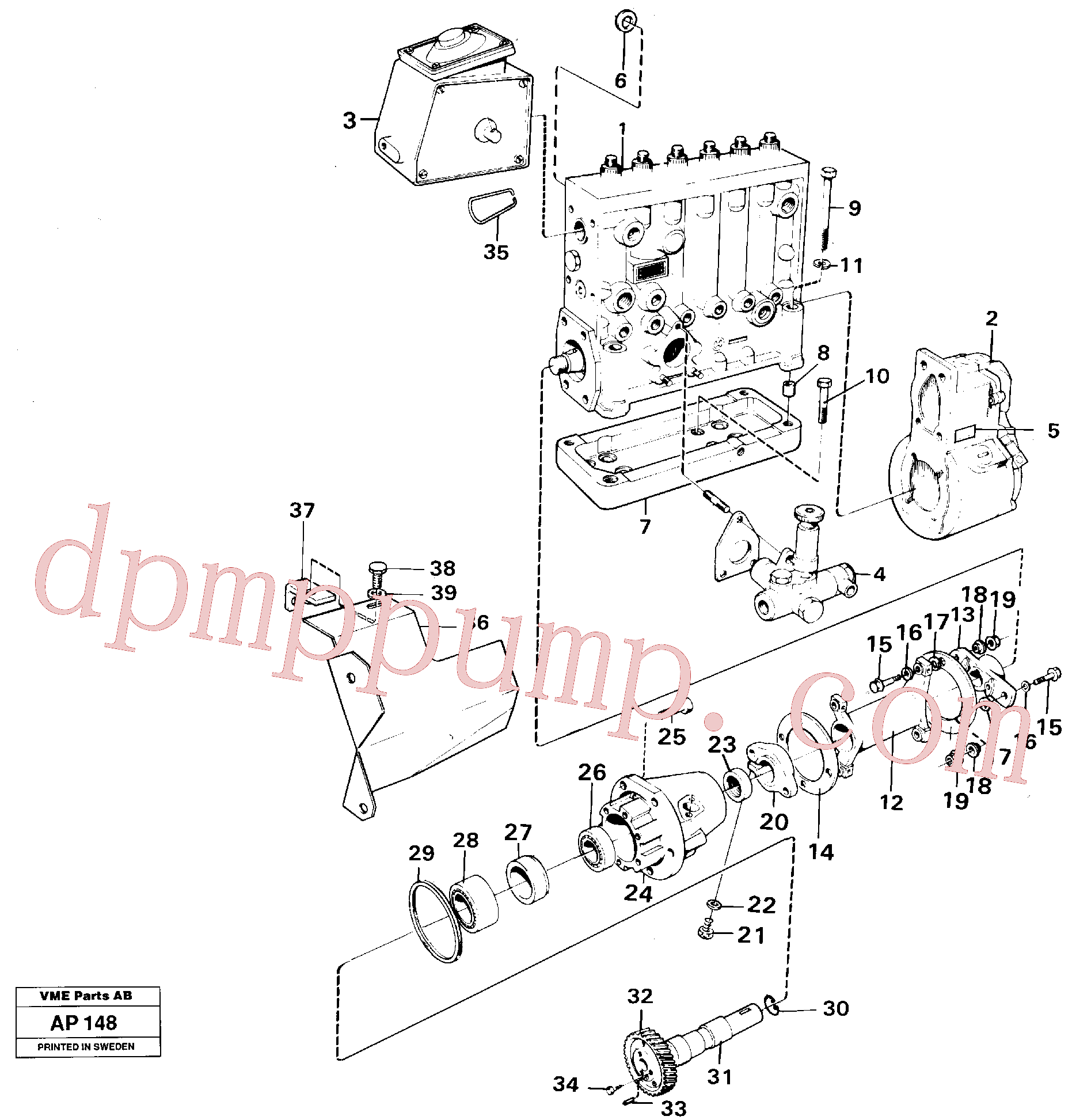 VOE914540 for Volvo Injection pump with drive(AP148 assembly)