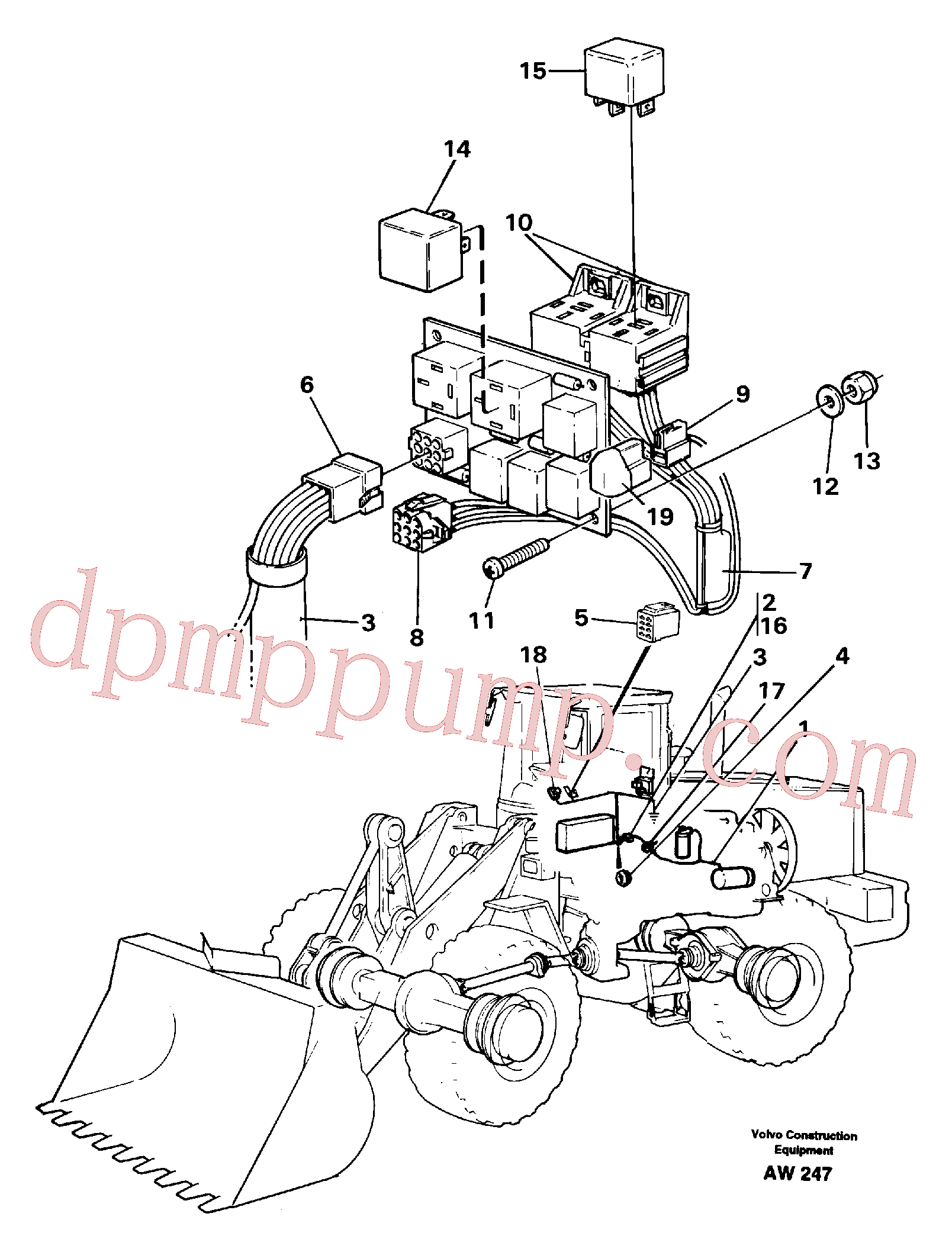 VOE963103 for Volvo Cable harness for air conditioning.(AW247 assembly)