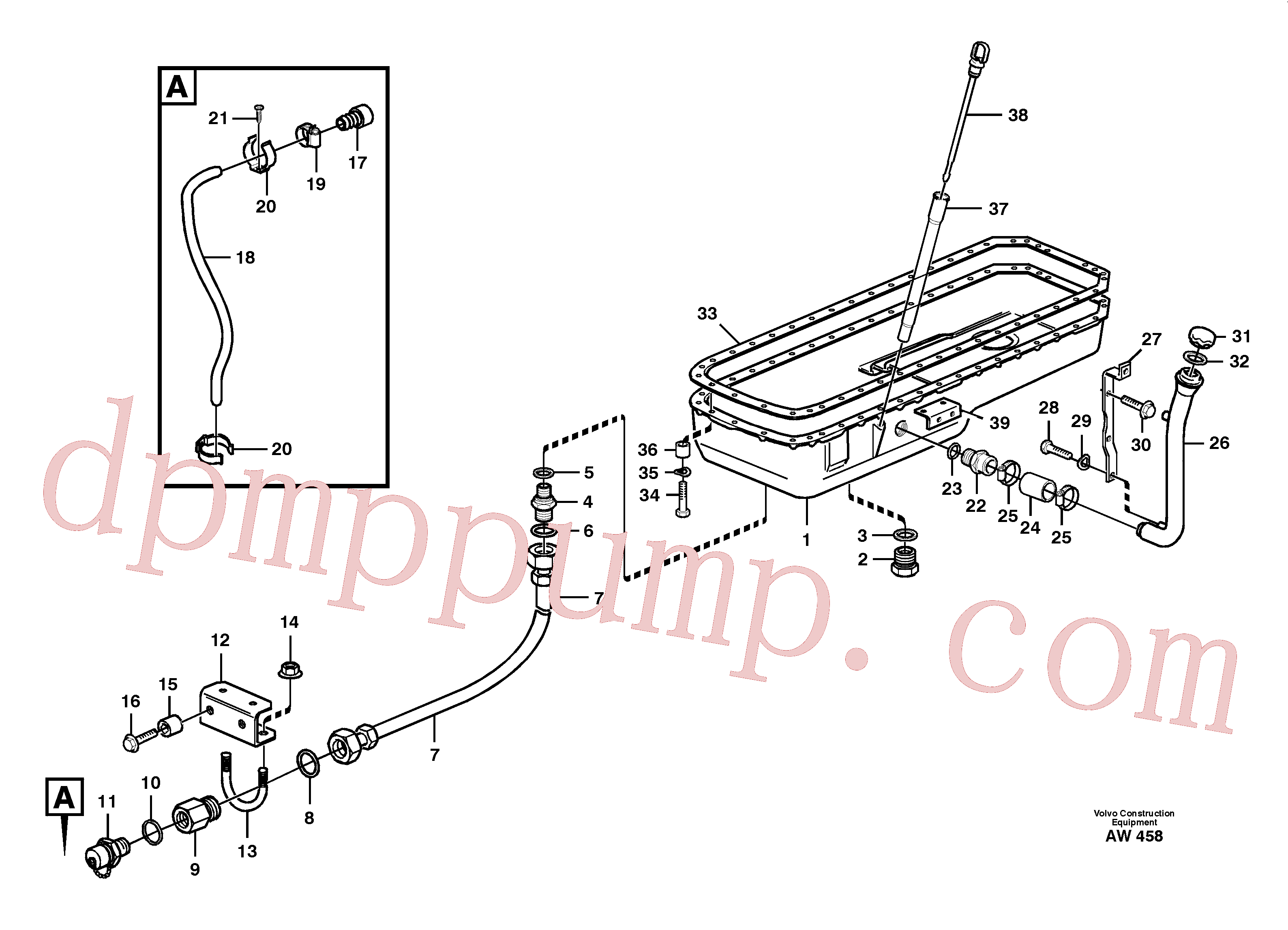 VOE1275379 for Volvo Oil sump(AW458 assembly)
