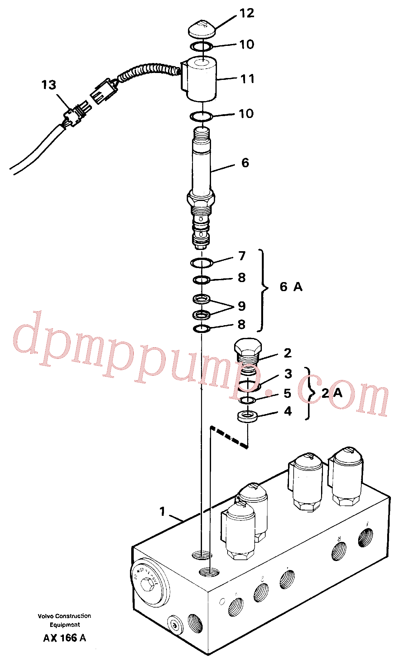 VOE12969854 for Volvo Solenoid valve(AX166A assembly)