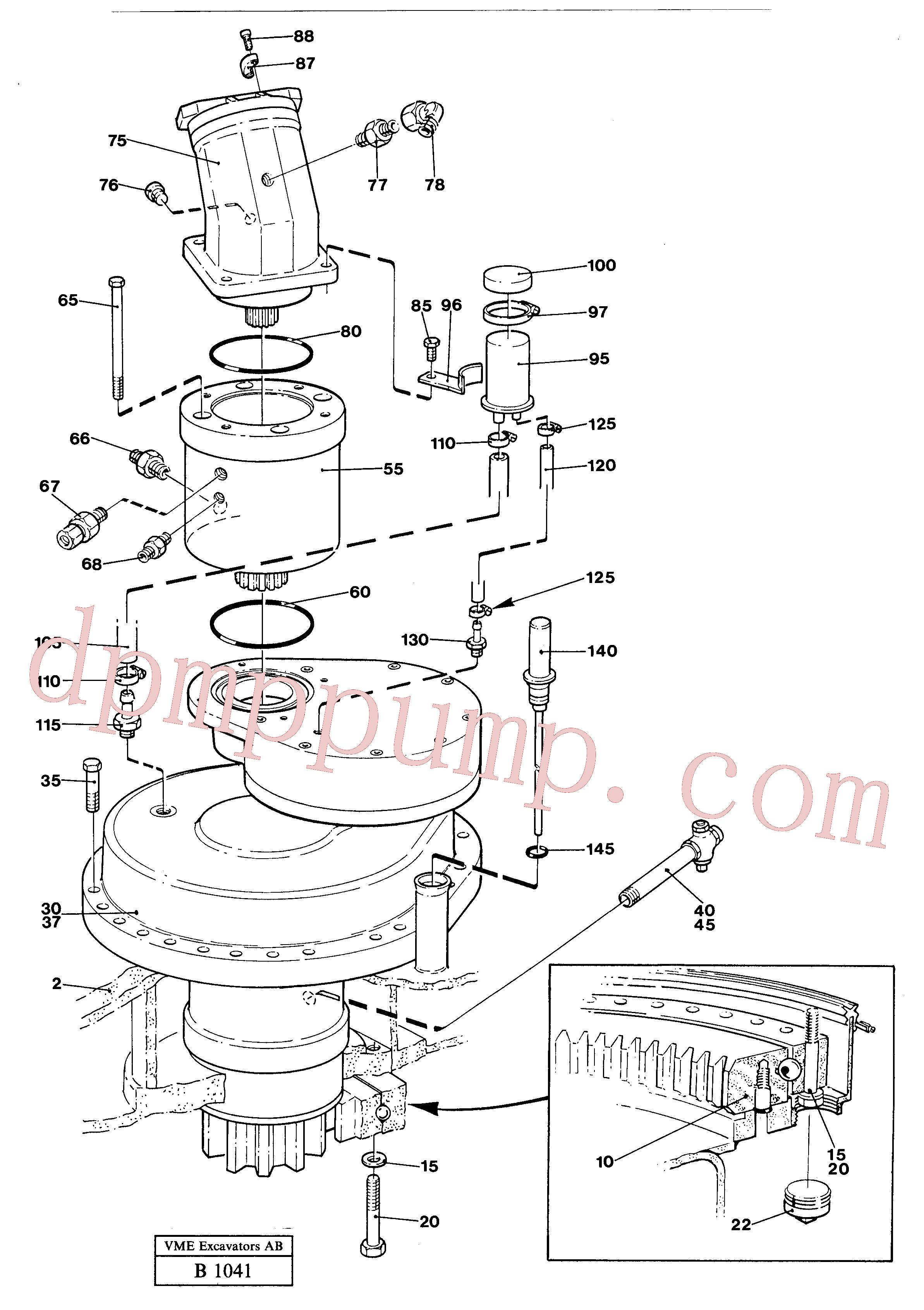 VOE14024143 for Volvo Superstructure with slew transmission(B1041 assembly)