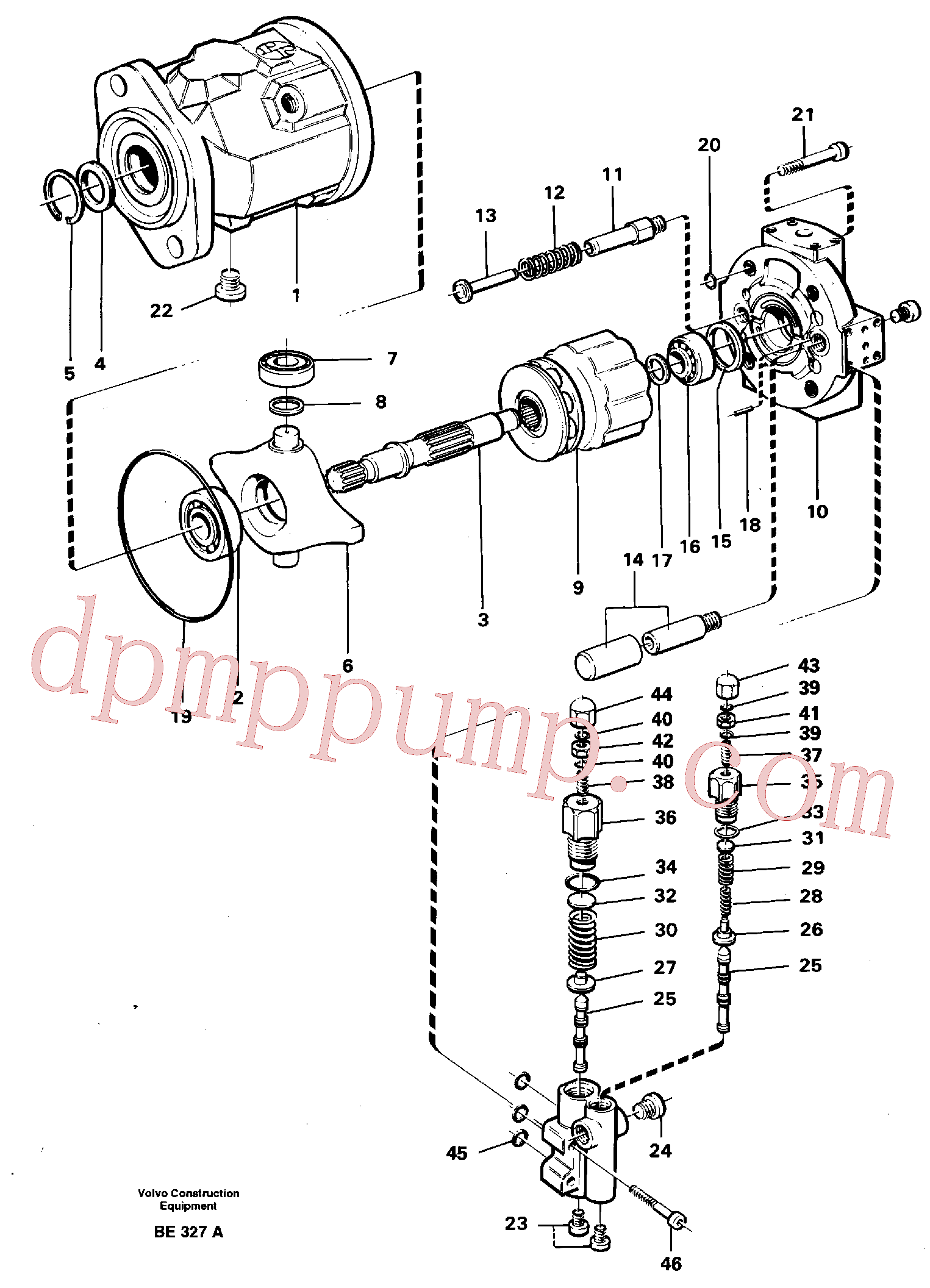VOE11992753 for Volvo Hydraulic pump(BE327A assembly)