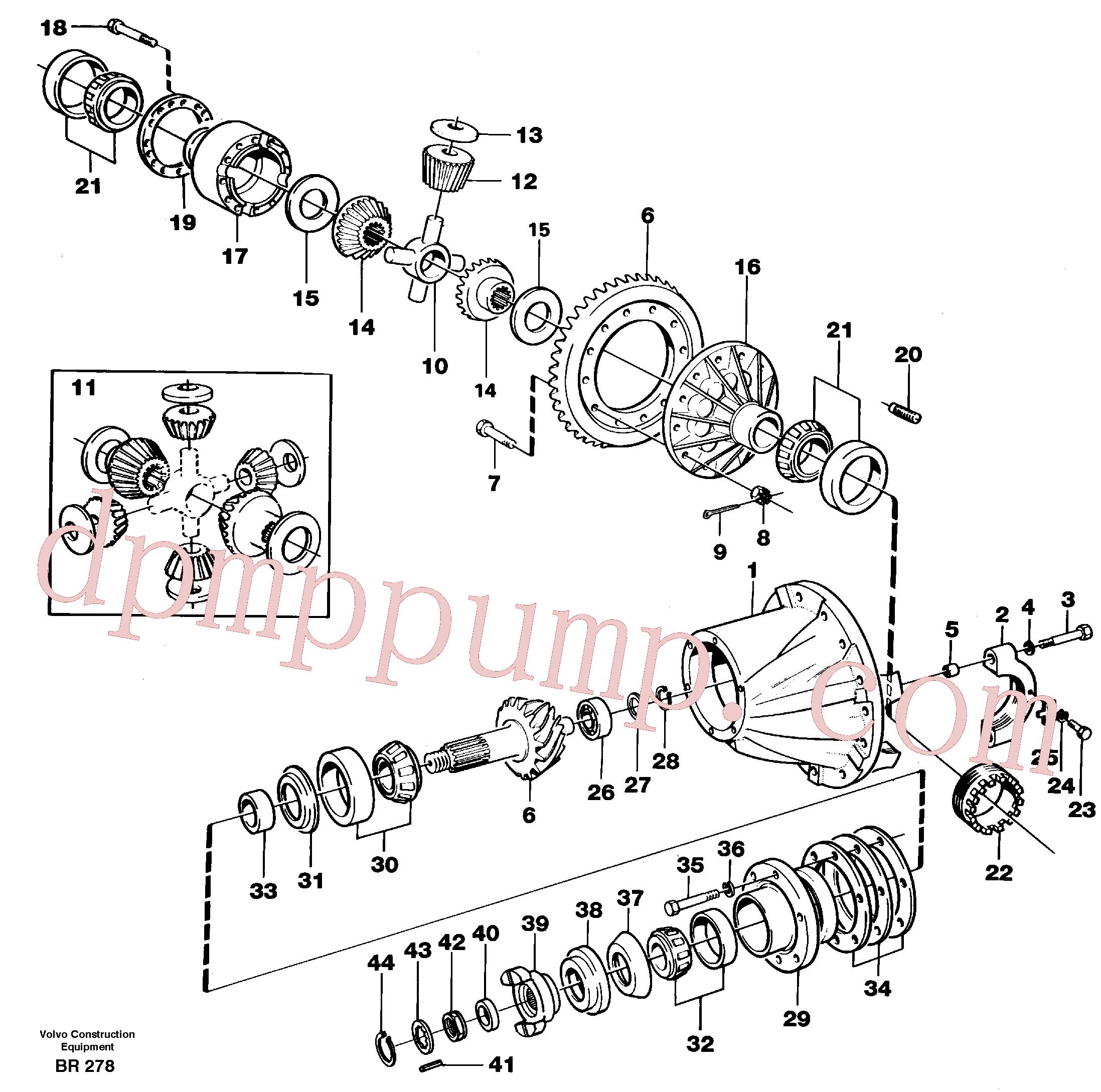 VOE11035607 for Volvo Final drive(BR278 assembly)
