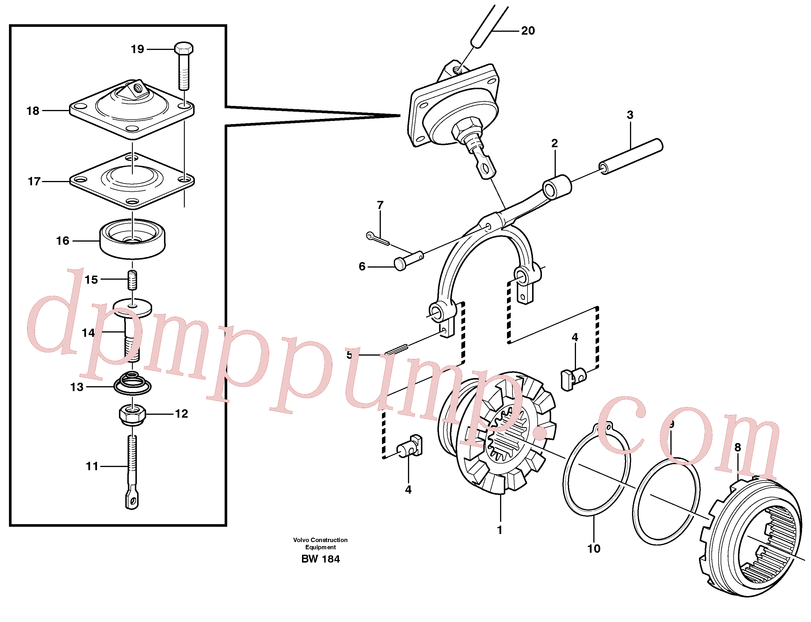 MI964845 for Volvo Differential lock(BW184 assembly)