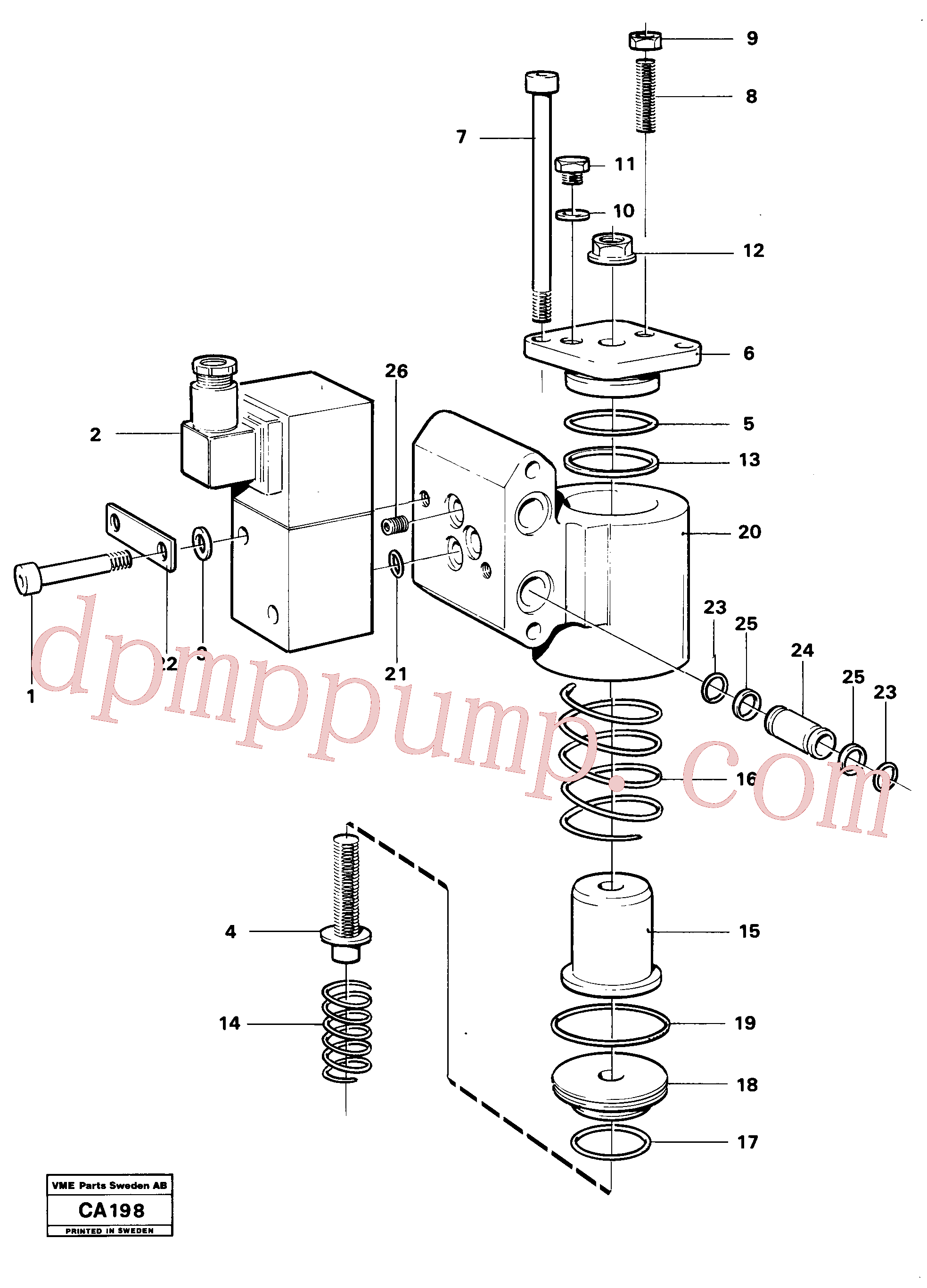 VOE959216 for Volvo Slide control(CA198 assembly)