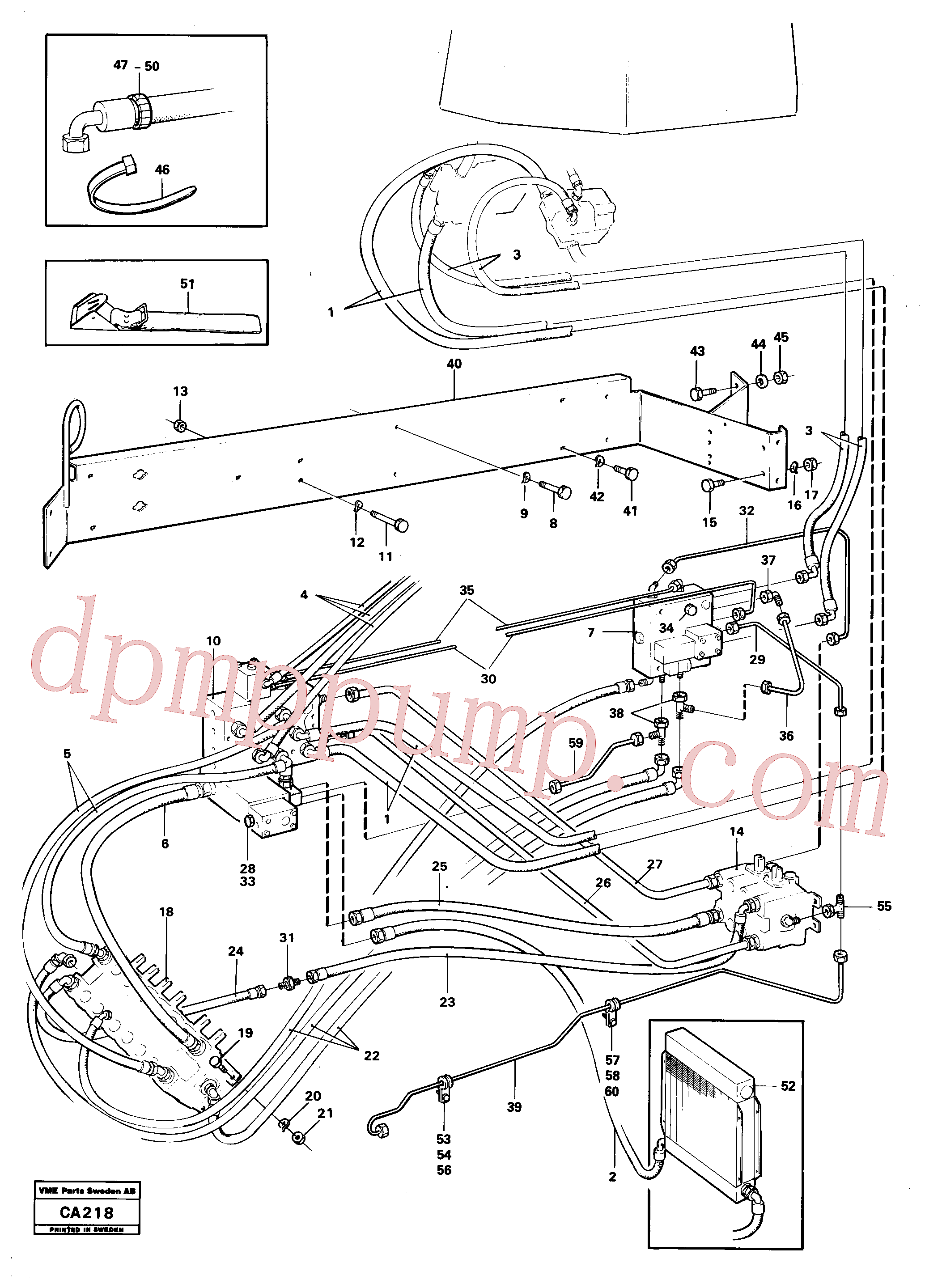 VOE932141 for Volvo Hydraulic and servo system. Feed system(CA218 assembly)