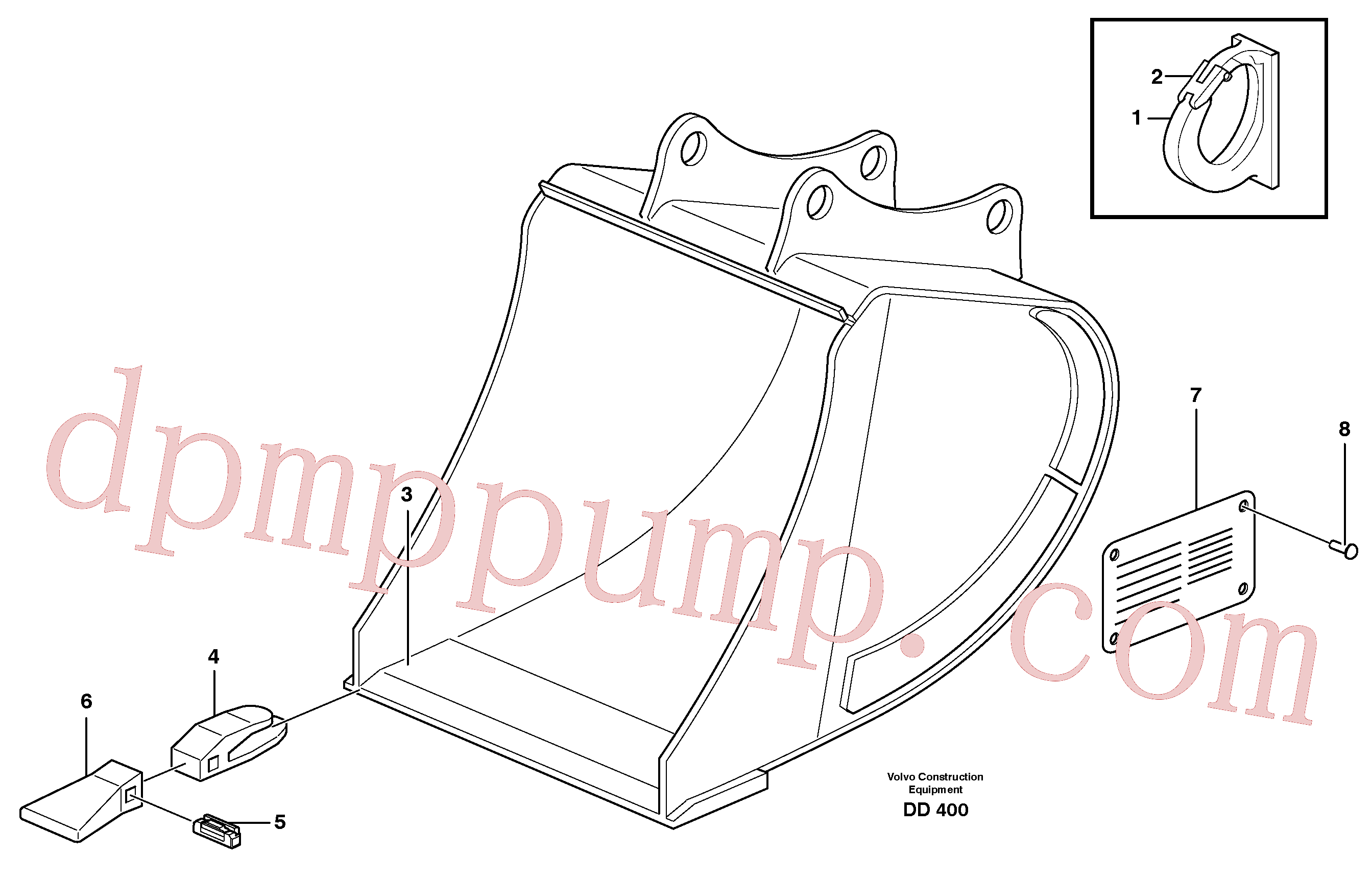 VOE14323230 for Volvo Buckets, direct fitting, Esco Super V(DD400 assembly)