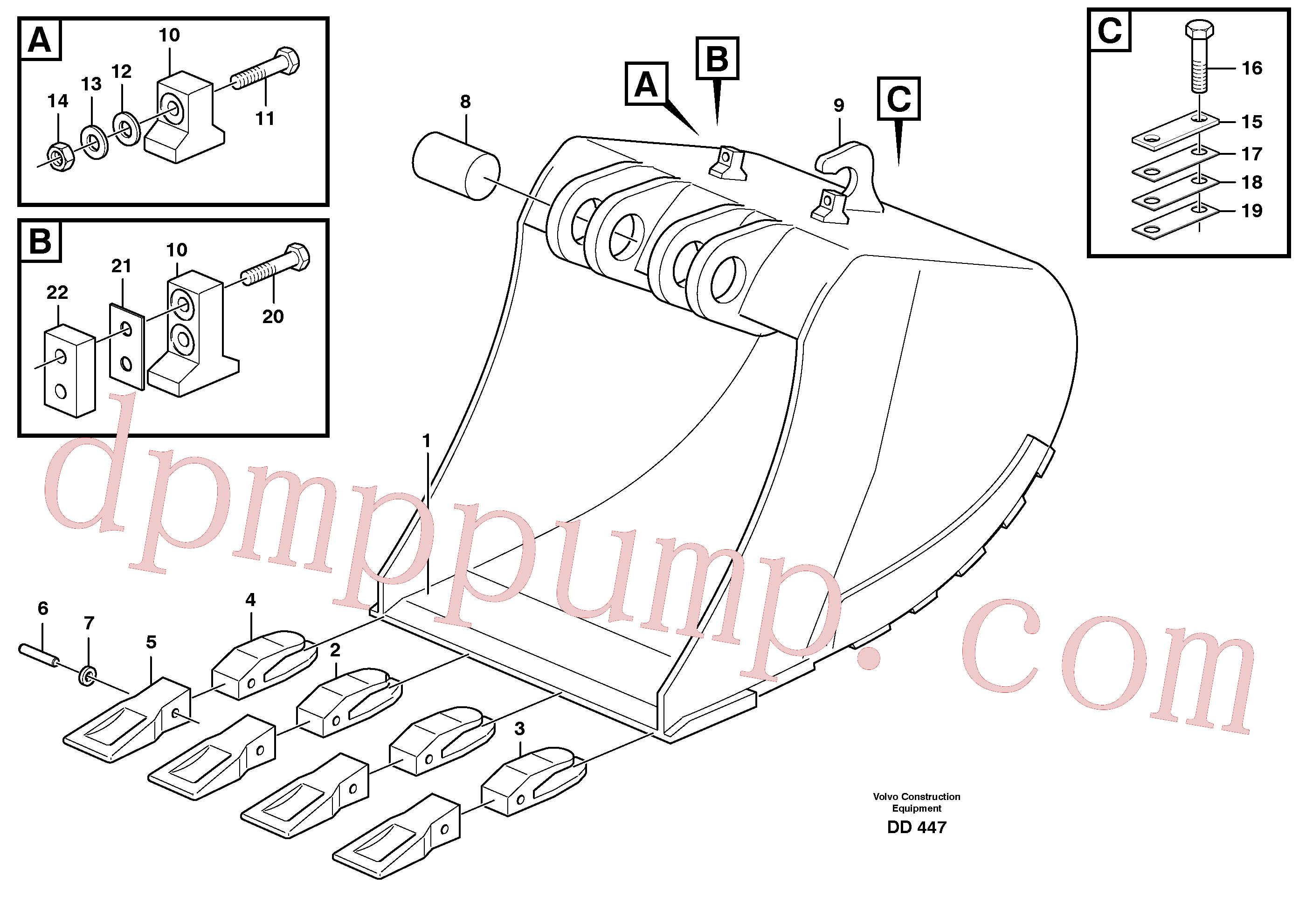 VOE14245462 for Volvo Buckets for quickfit, S1 - S2(DD447 assembly)