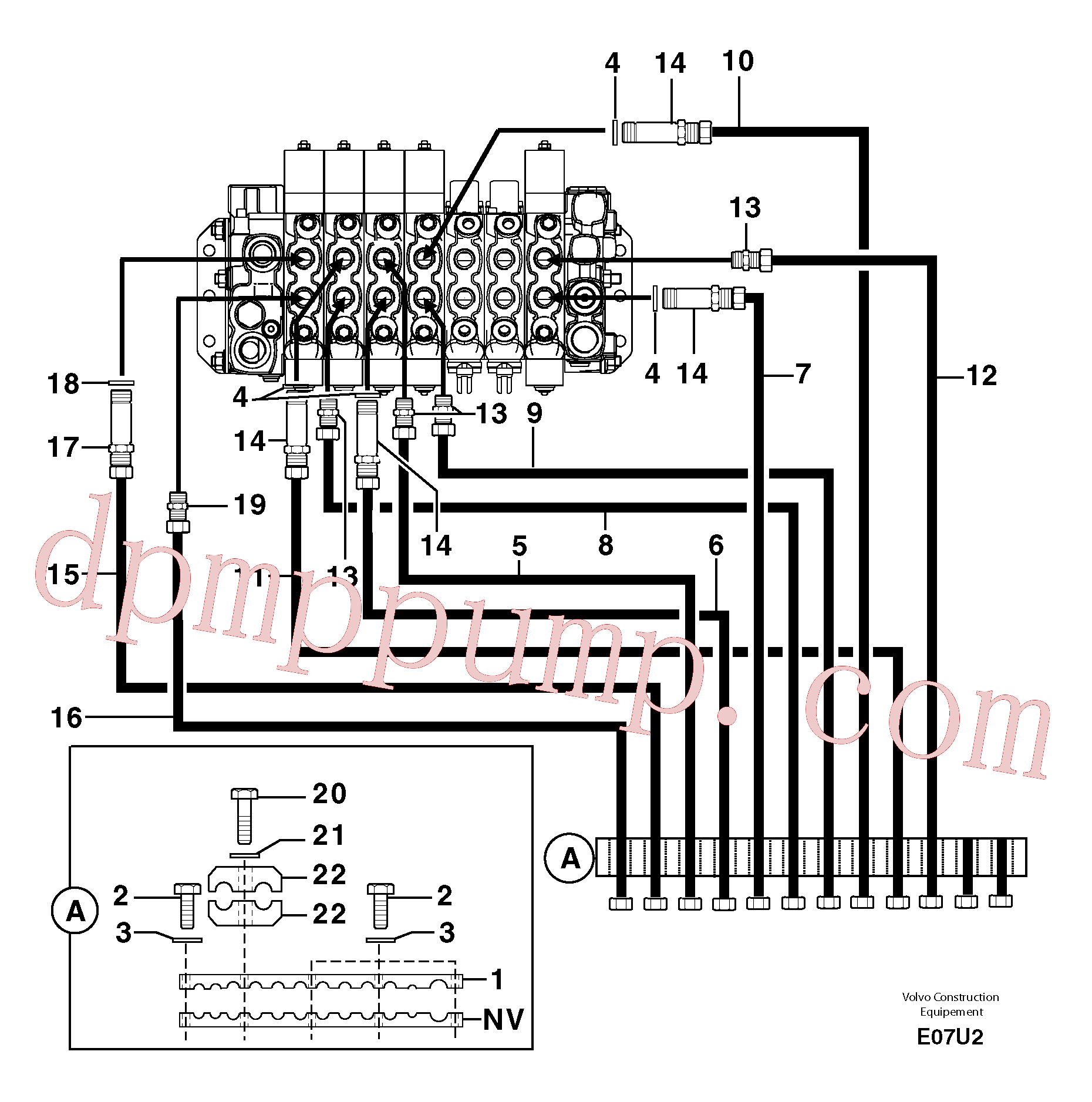 PJ5910568 for Volvo Hydr. circuit ( attachment )(E07U2 assembly)