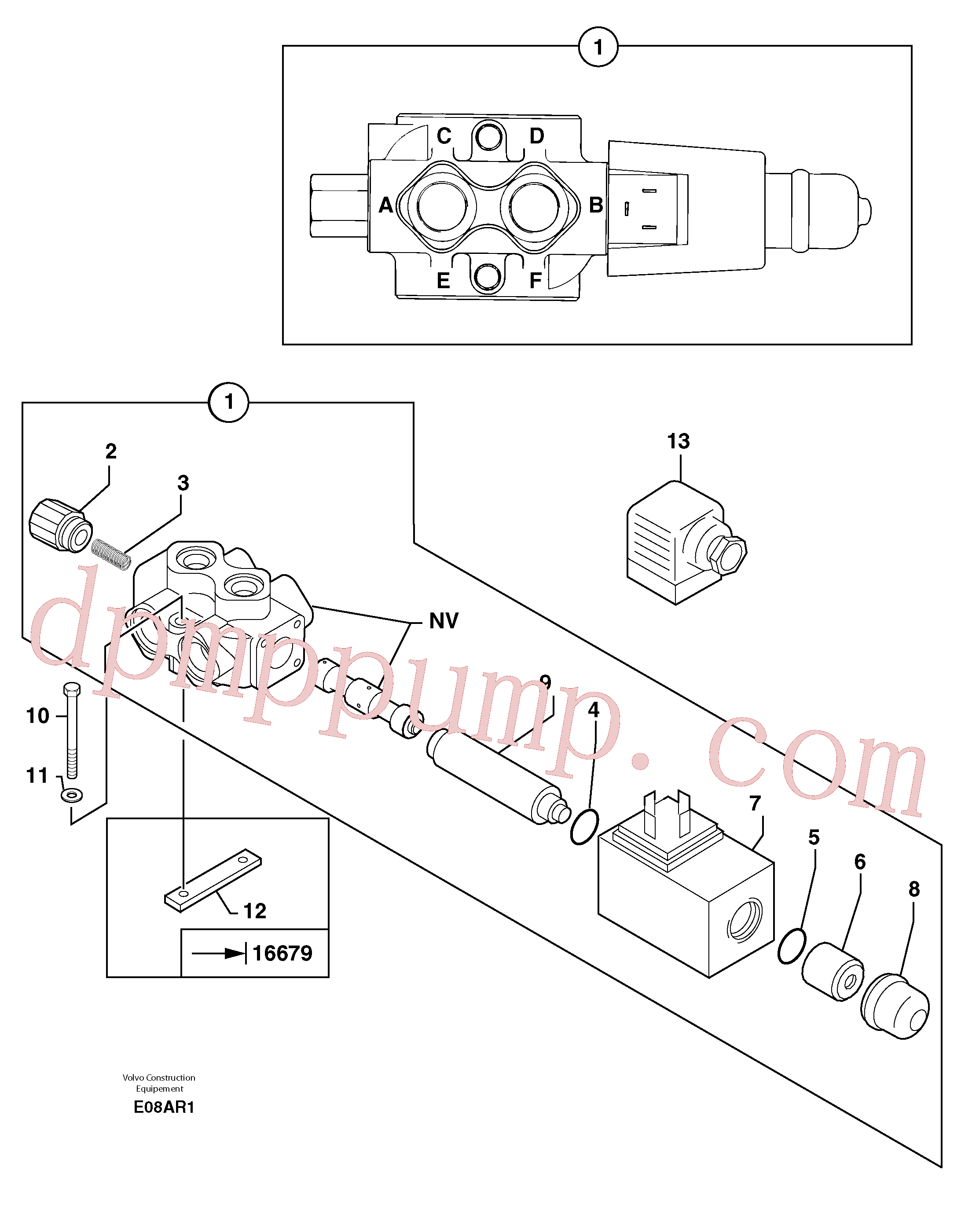 PJ7417222 for Volvo Slewing-offset selector switch ( for valve )(E08AR1 assembly)