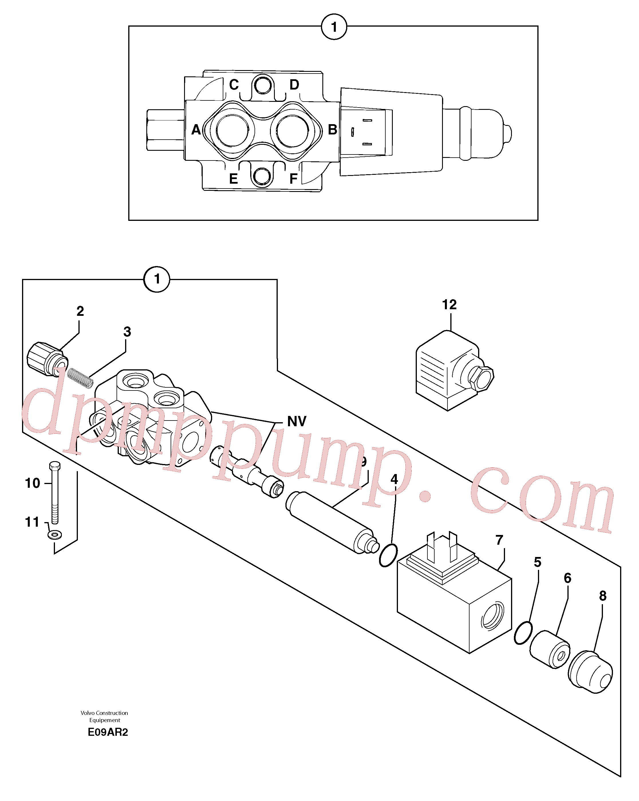 PJ7417222 for Volvo Slewing-offset selector switch ( for valve )(E09AR2 assembly)