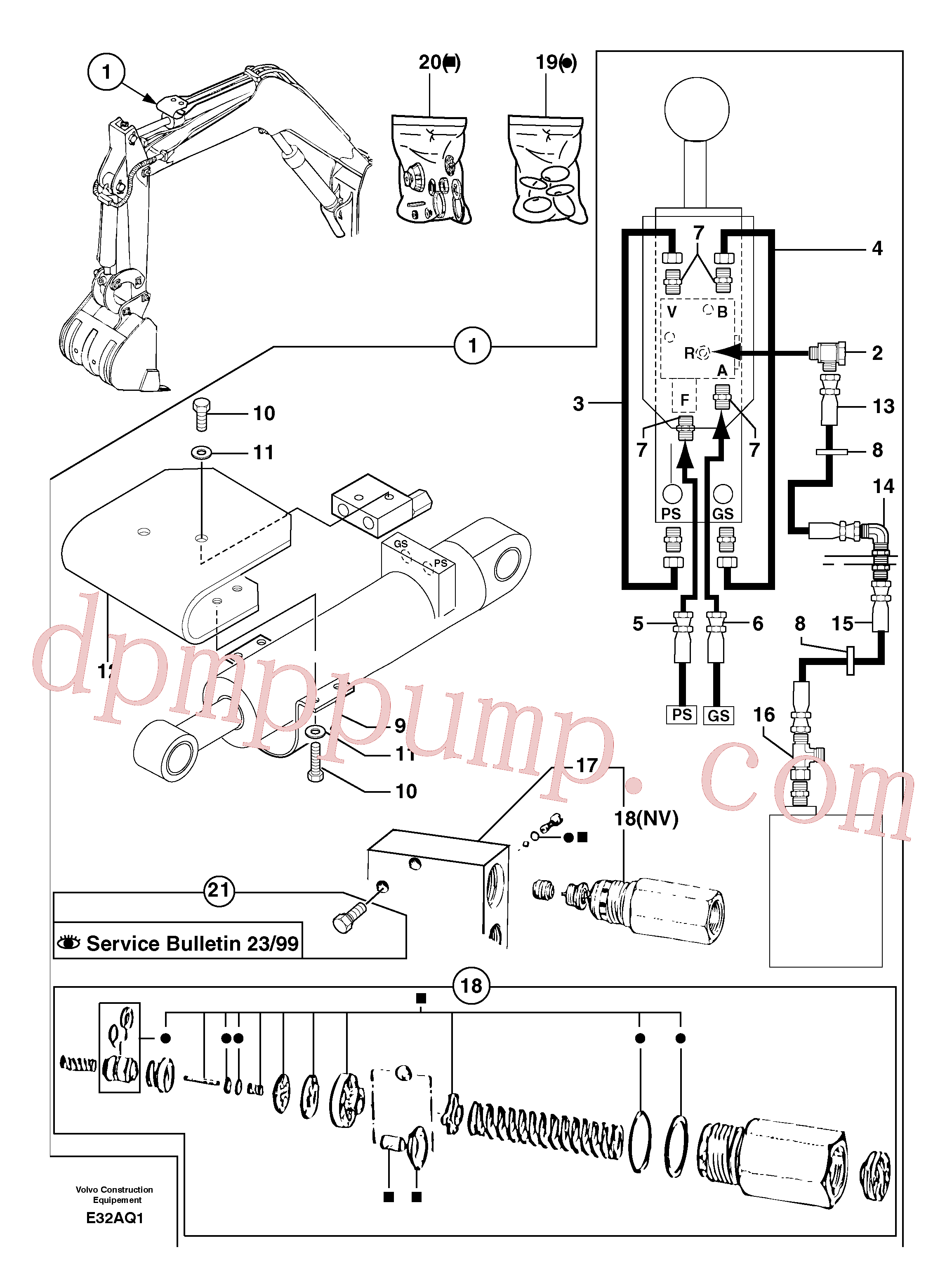 PJ5910720 for Volvo Safety valve ( dipper arm cylinder )(E32AQ1 assembly)