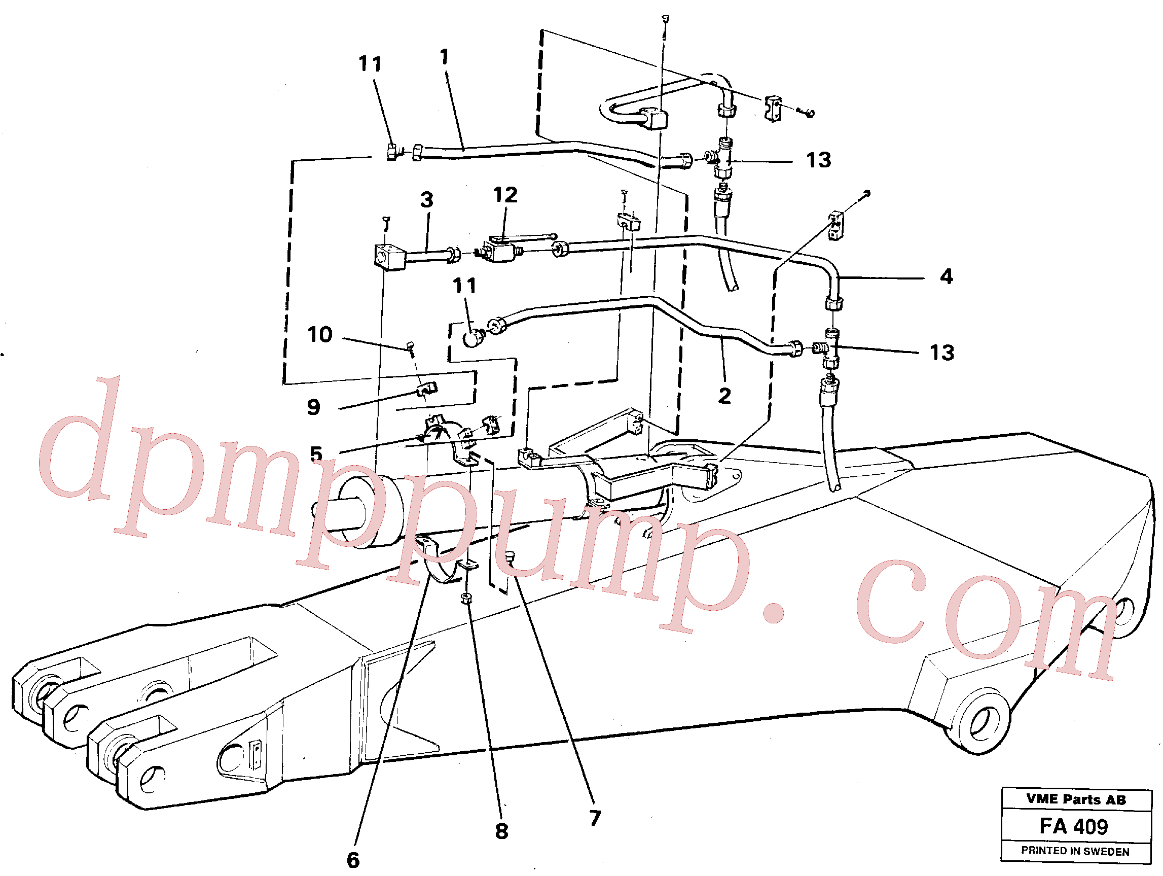 VOE14249978 for Volvo Parallel connected grab hydraulics on dipper arm.(FA409 assembly)