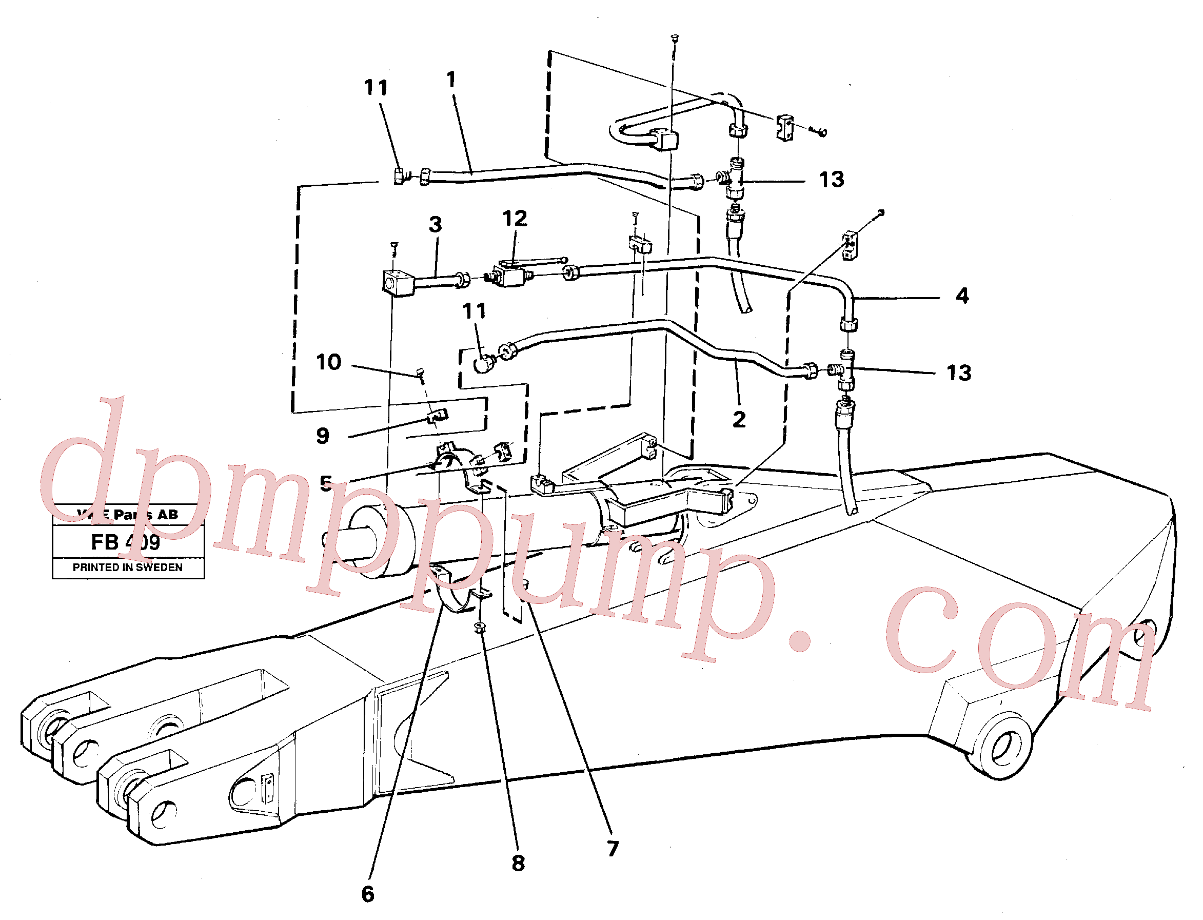 VOE14249978 for Volvo Parallel connected grab hydraulics on dipper arm(FB409 assembly)