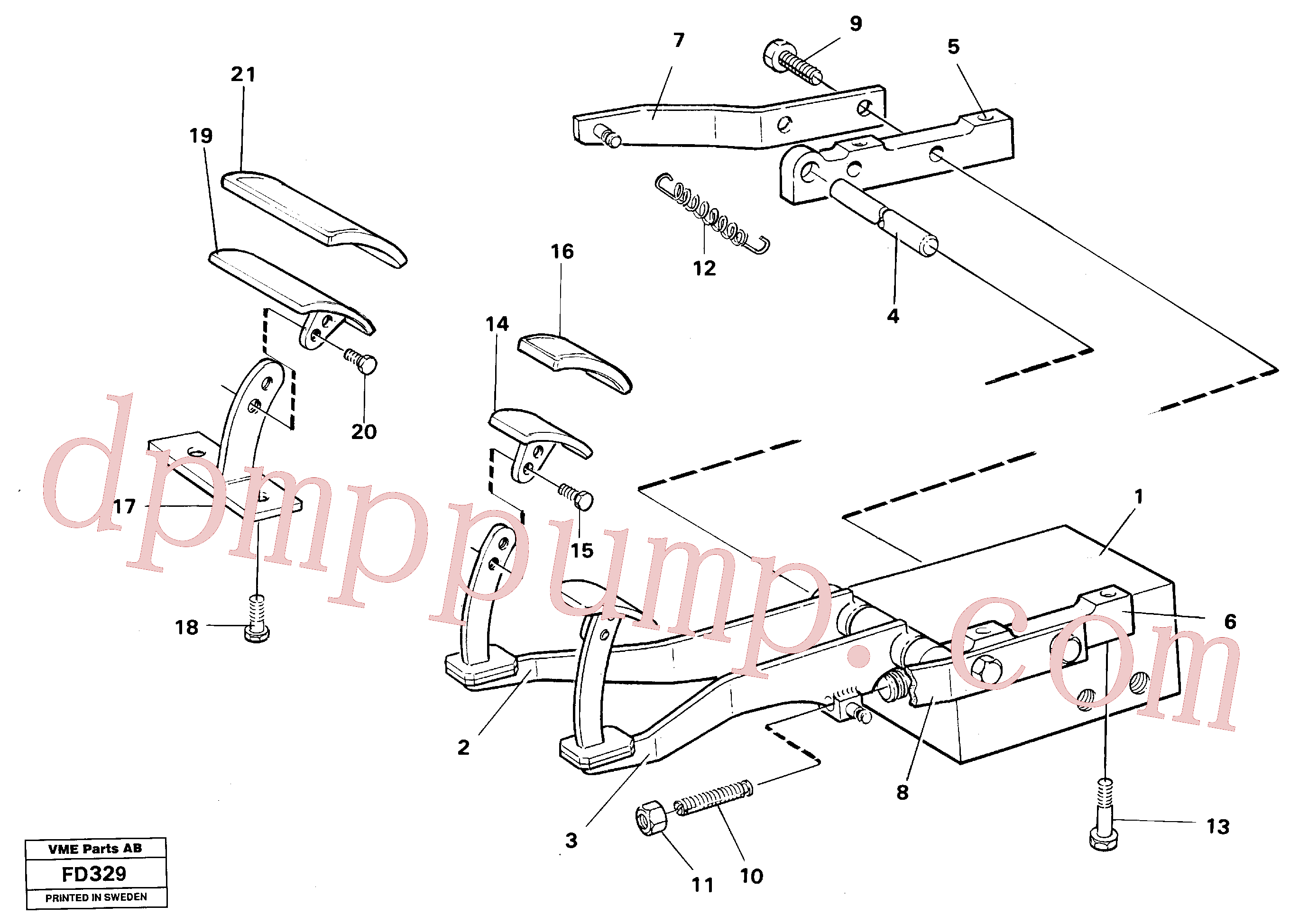 VOE14243546 for Volvo Pedal valve with foot rest(FD329 assembly)