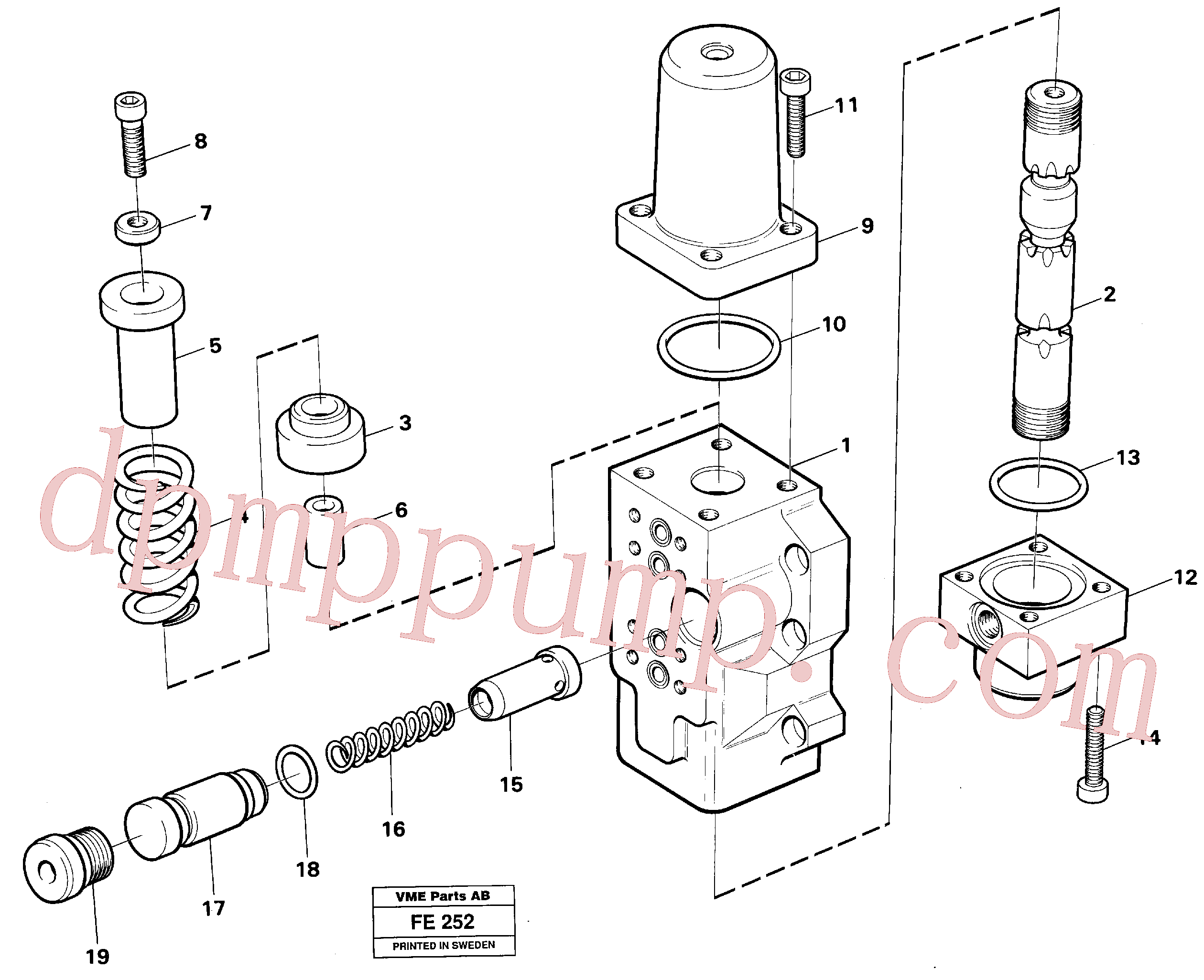 VOE14046450 for Volvo Four-way valve(FE252 assembly)