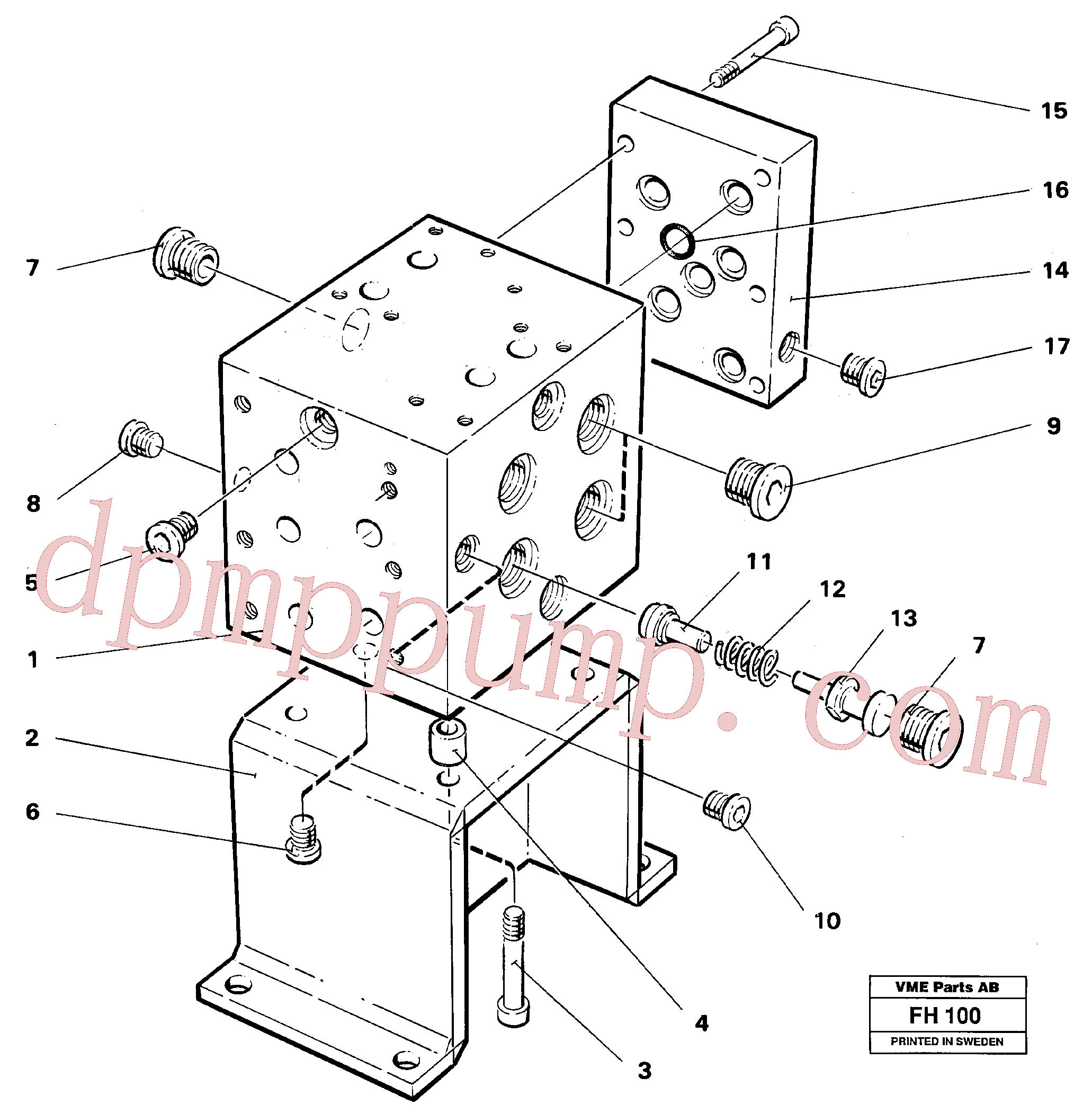 VOE14232693 for Volvo Slew valve assembly block(FH100 assembly)