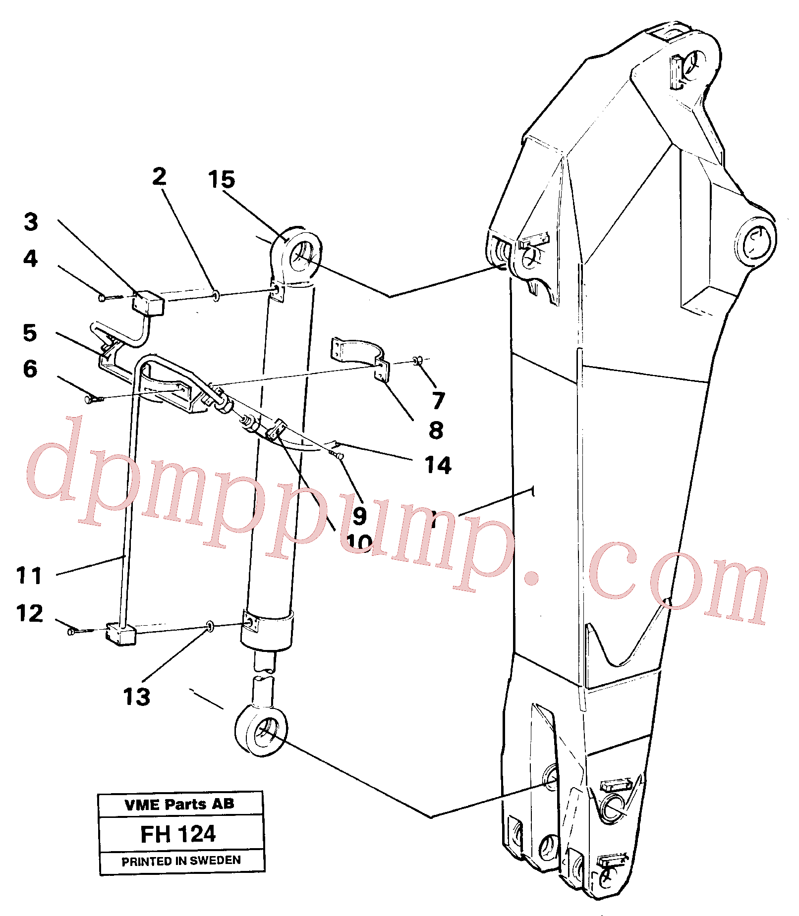 VOE14254527 for Volvo Dipper arm hydraulic(FH124 assembly)