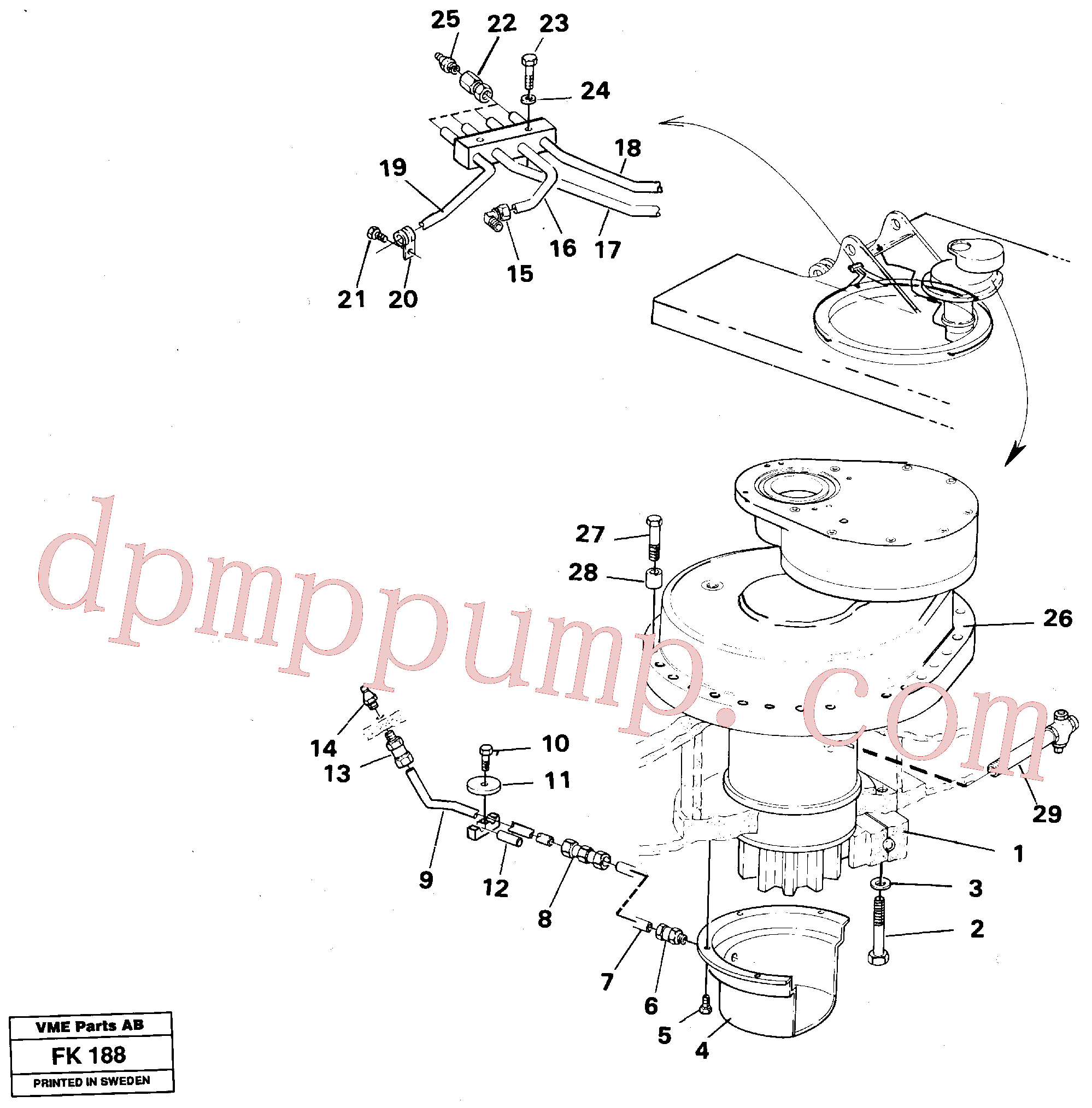 VOE14259691 for Volvo Superstructure with slew transmission(FK188 assembly)