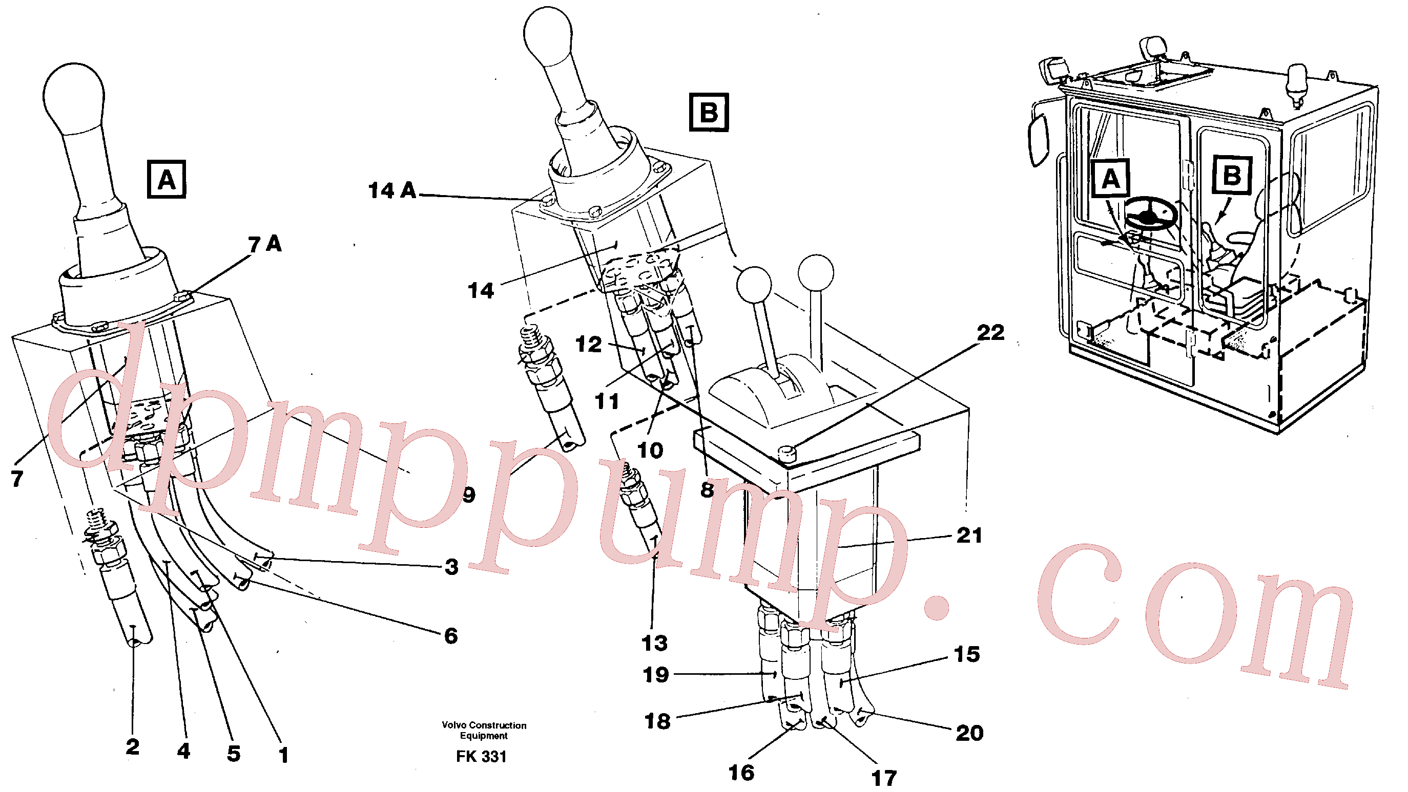 VOE14213132 for Volvo Joy Stick Left and Right(FK331 assembly)