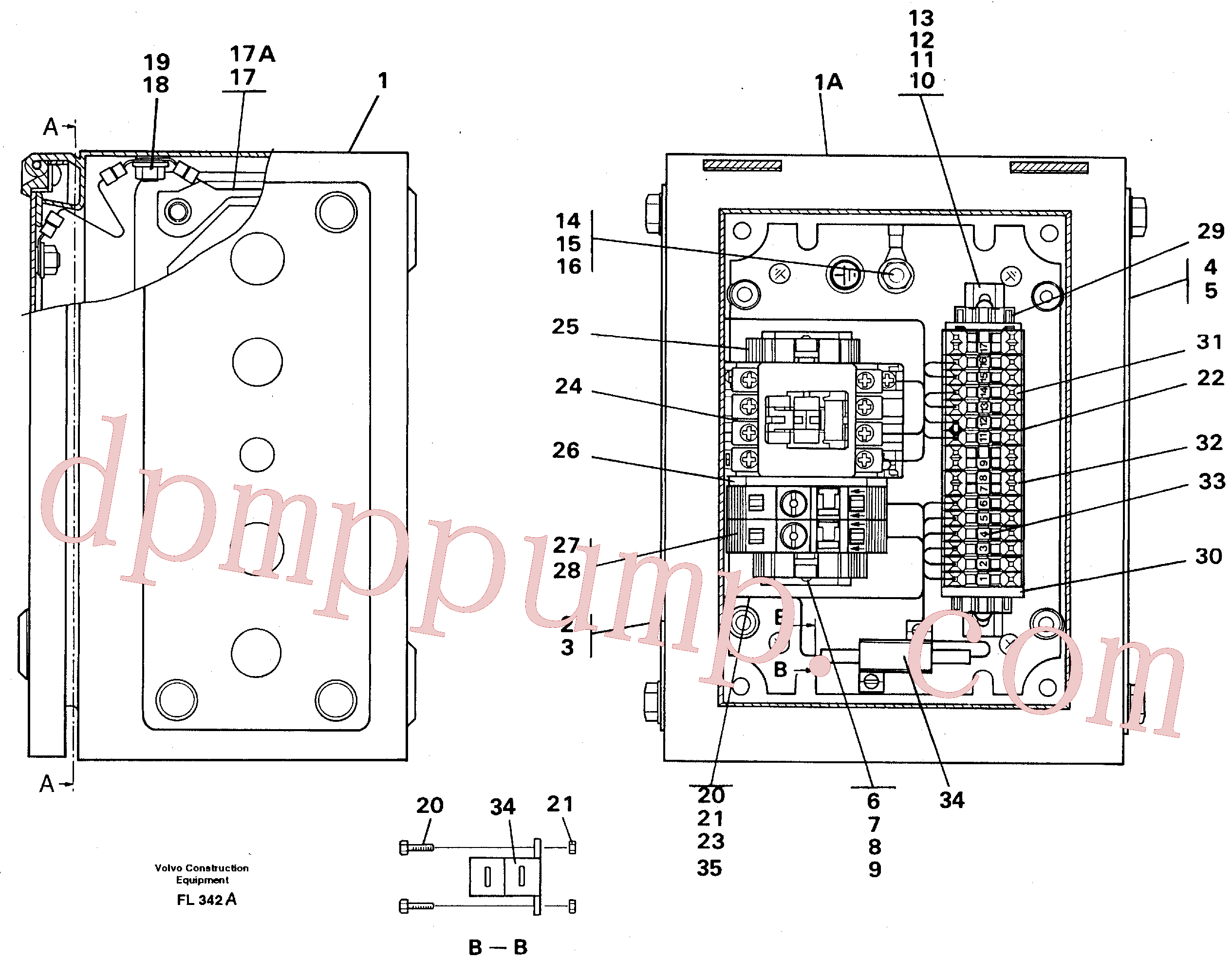 VOE14261692 for Volvo Magnet equipment Ohio, Electrical distribution unit(FL342A assembly)
