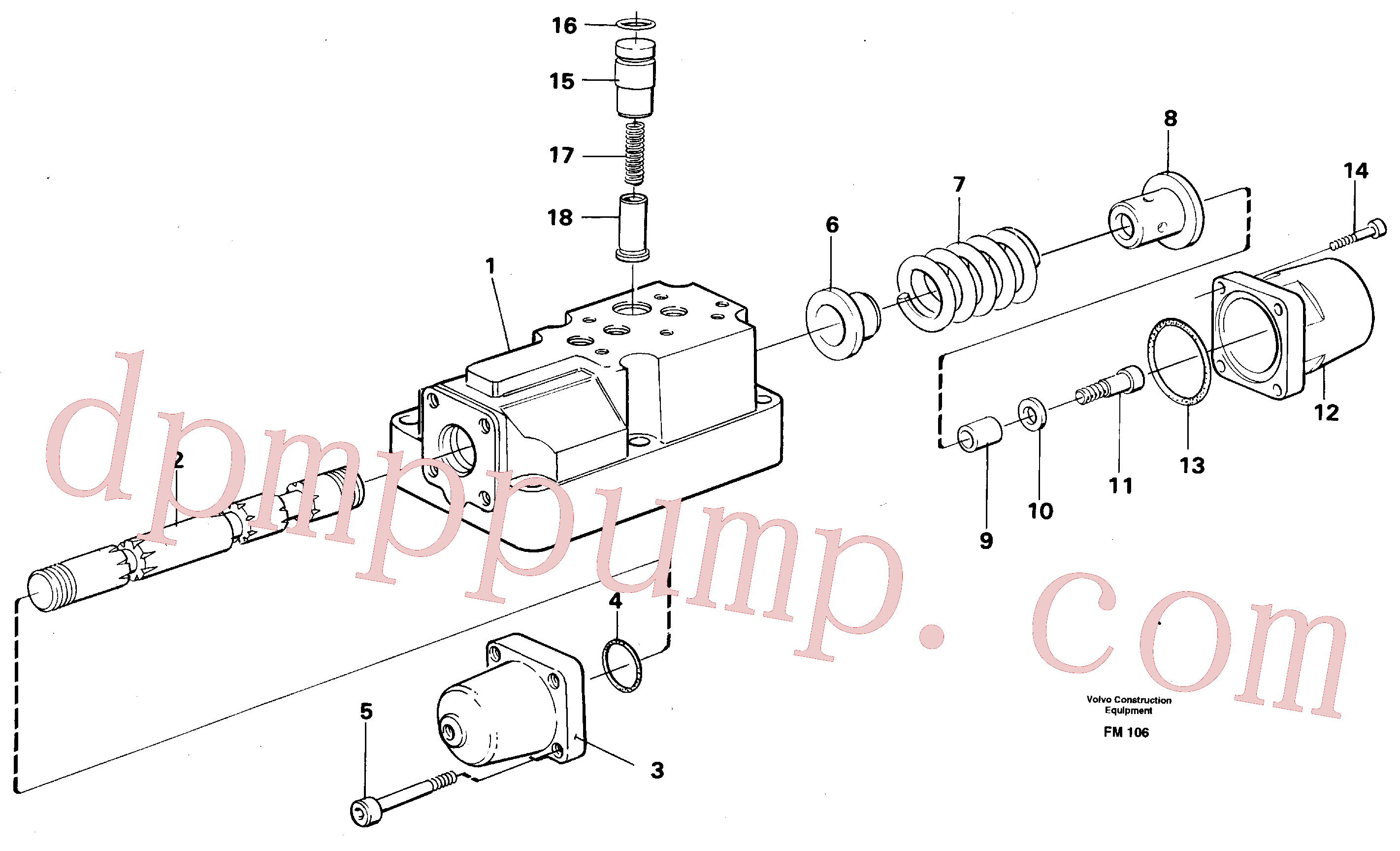 VOE14023264 for Volvo Four-way valve(FM106 assembly)