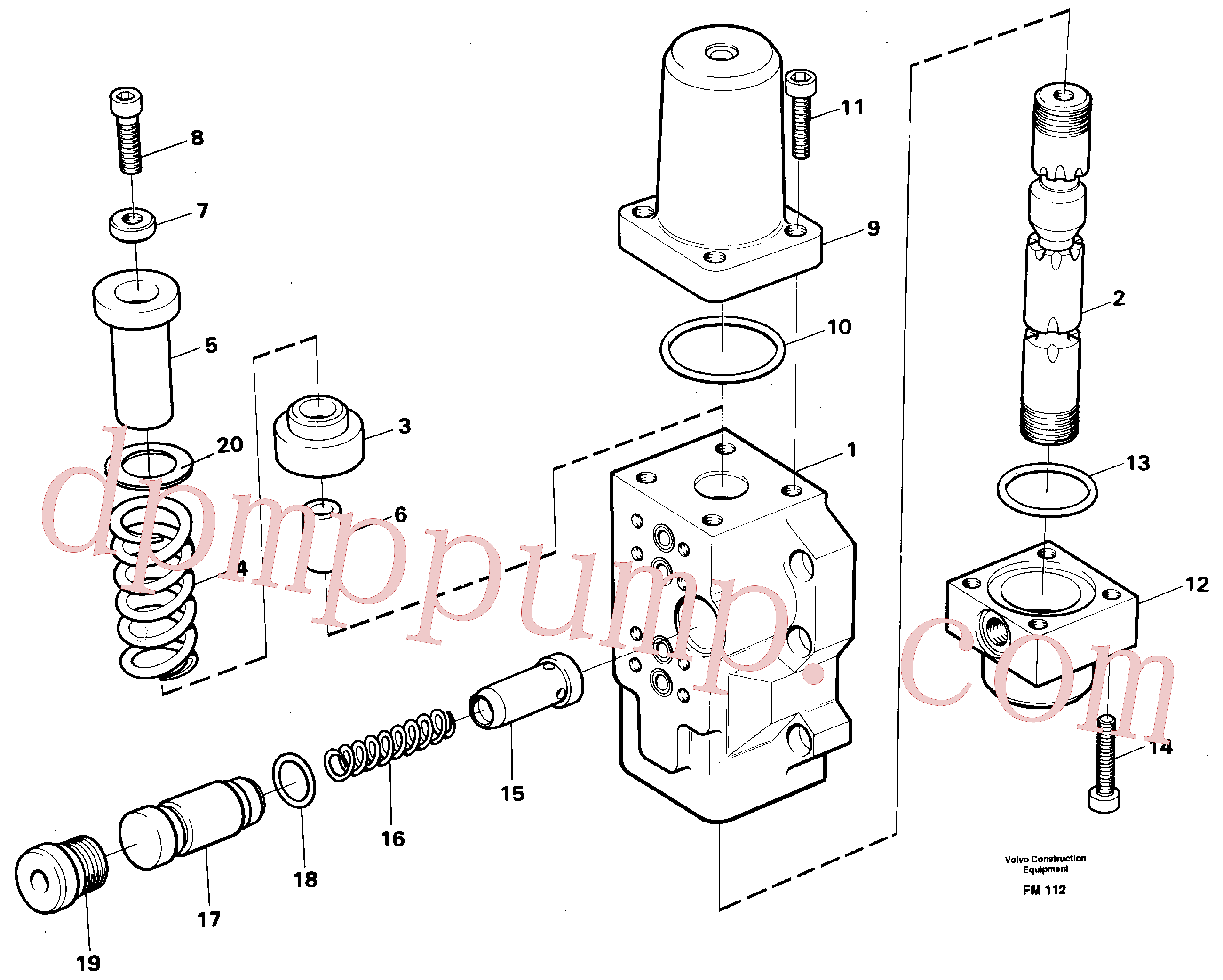 VOE14046450 for Volvo Four-way valve, dipper secondary(FM112 assembly)