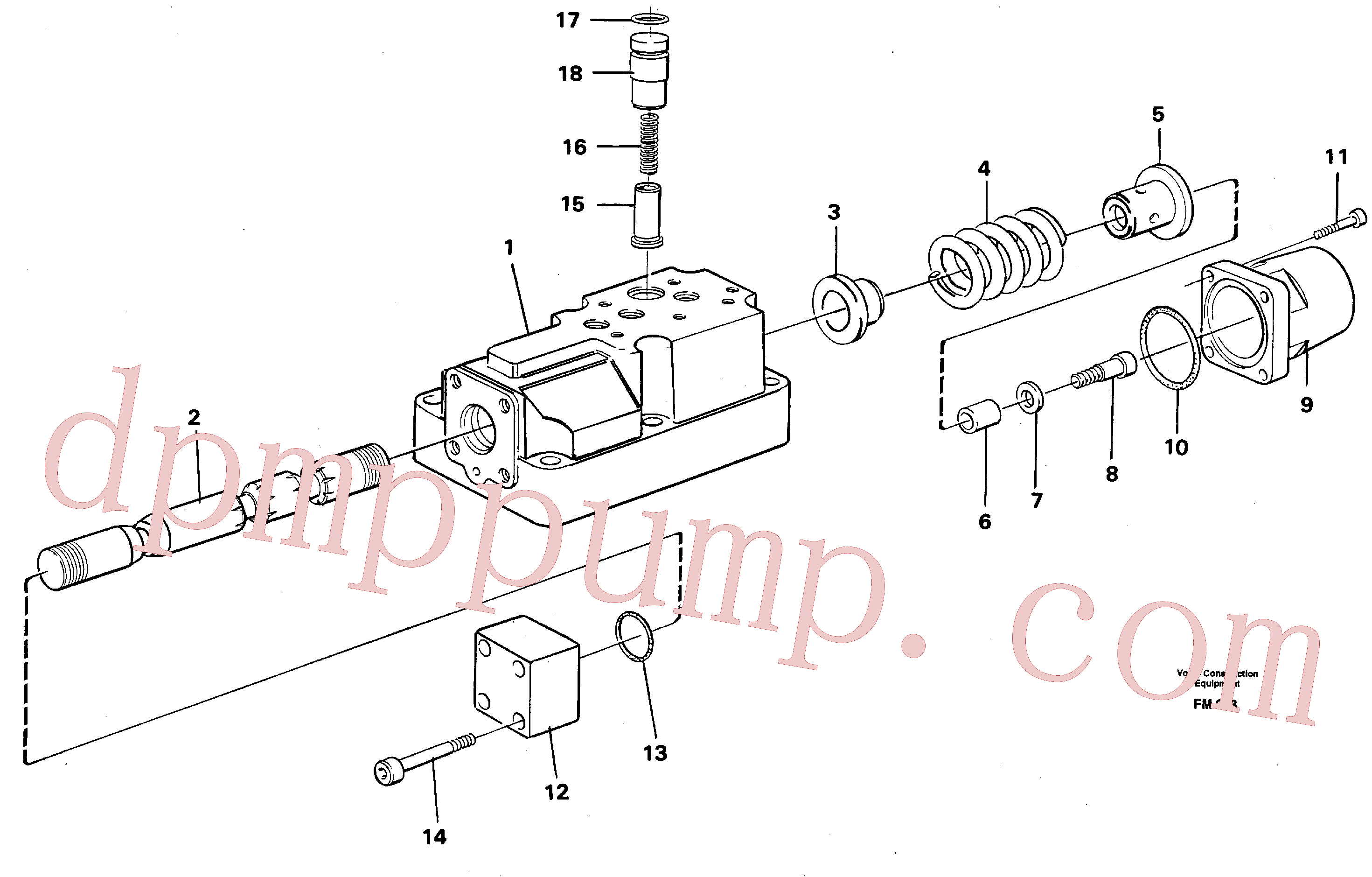 VOE14023264 for Volvo Four-way valve(FM253 assembly)