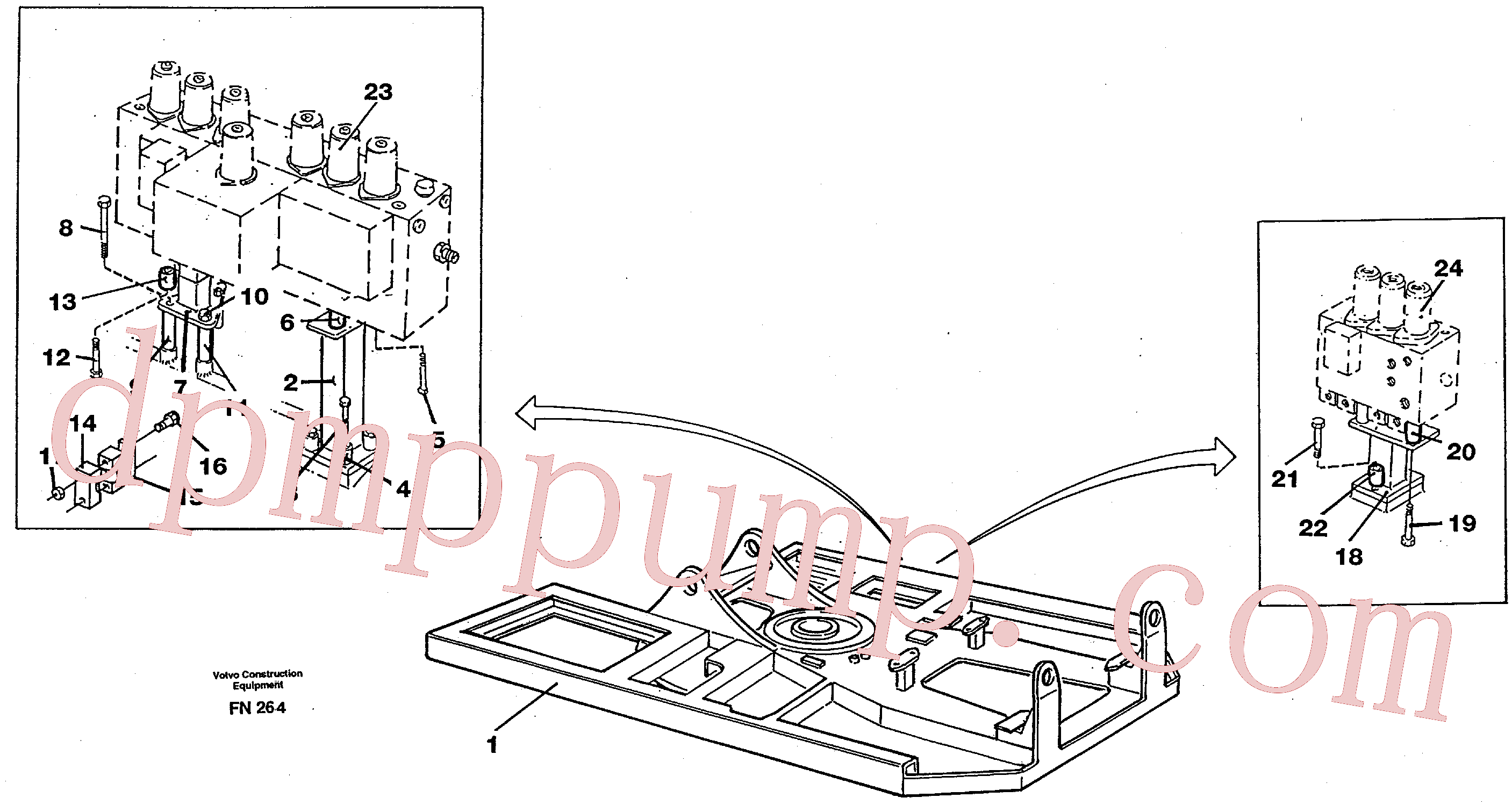 VOE13955328 for Volvo Superstructure(FN264 assembly)