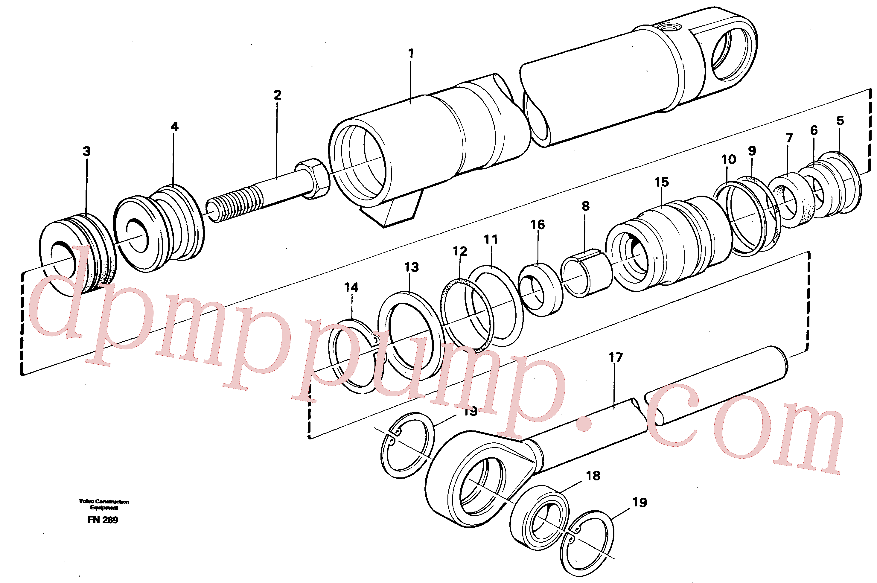 VOE14251909 for Volvo Hydraulic cylinder(FN289 assembly)
