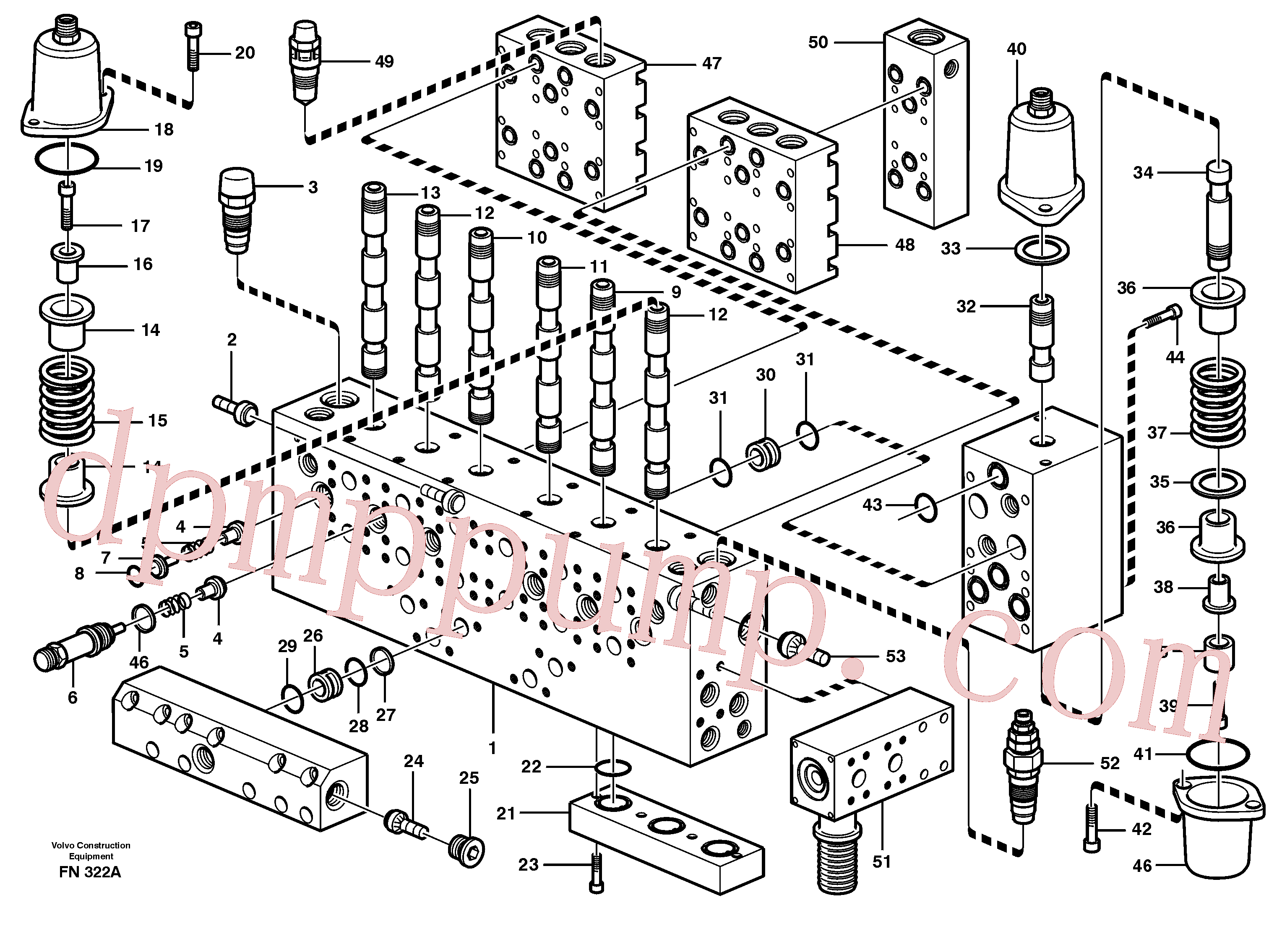VOE14343364 for Volvo Main valve assembly, valves(FN322A assembly)