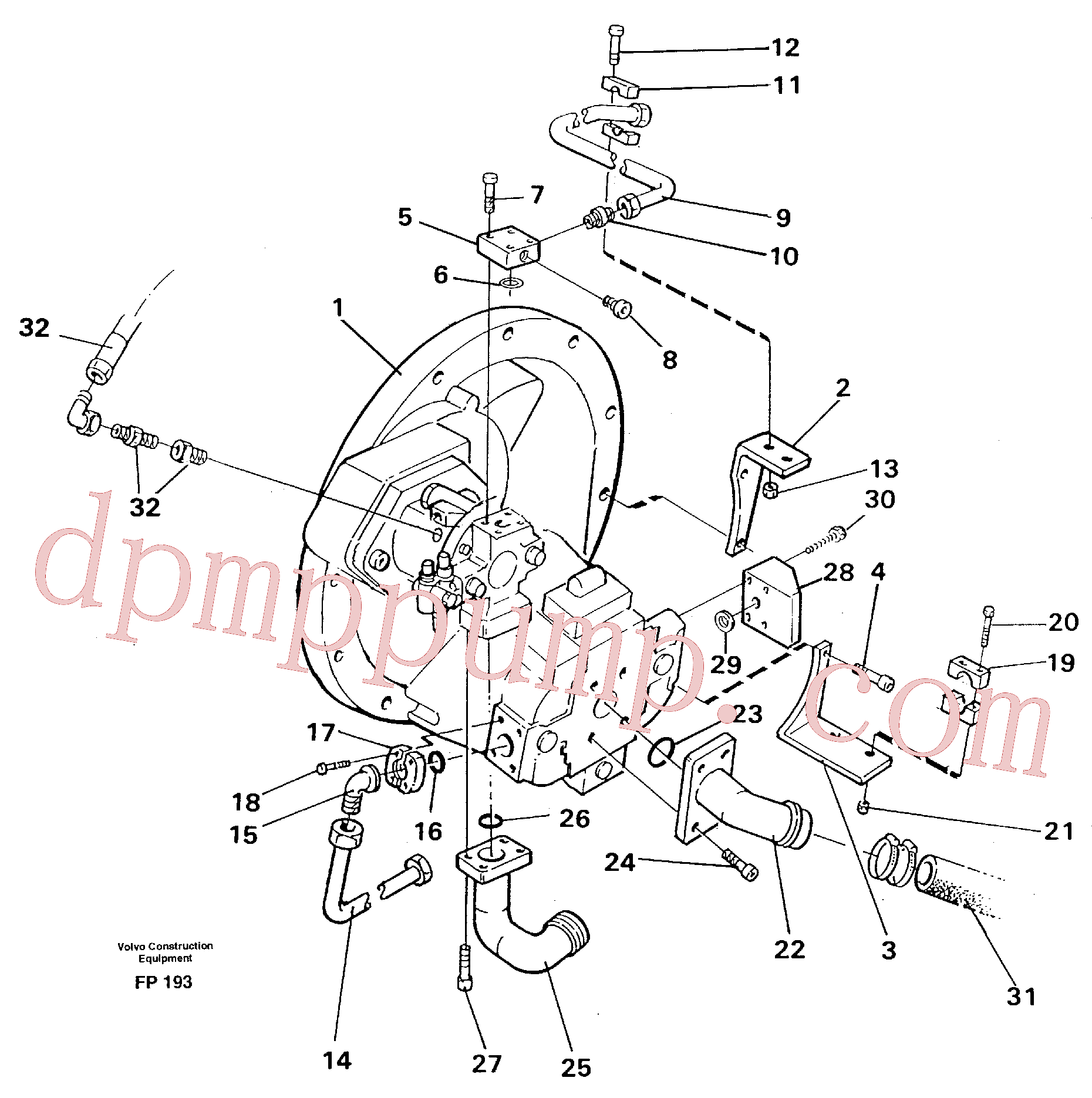 VOE14215425 for Volvo Pump installation(FP193 assembly)