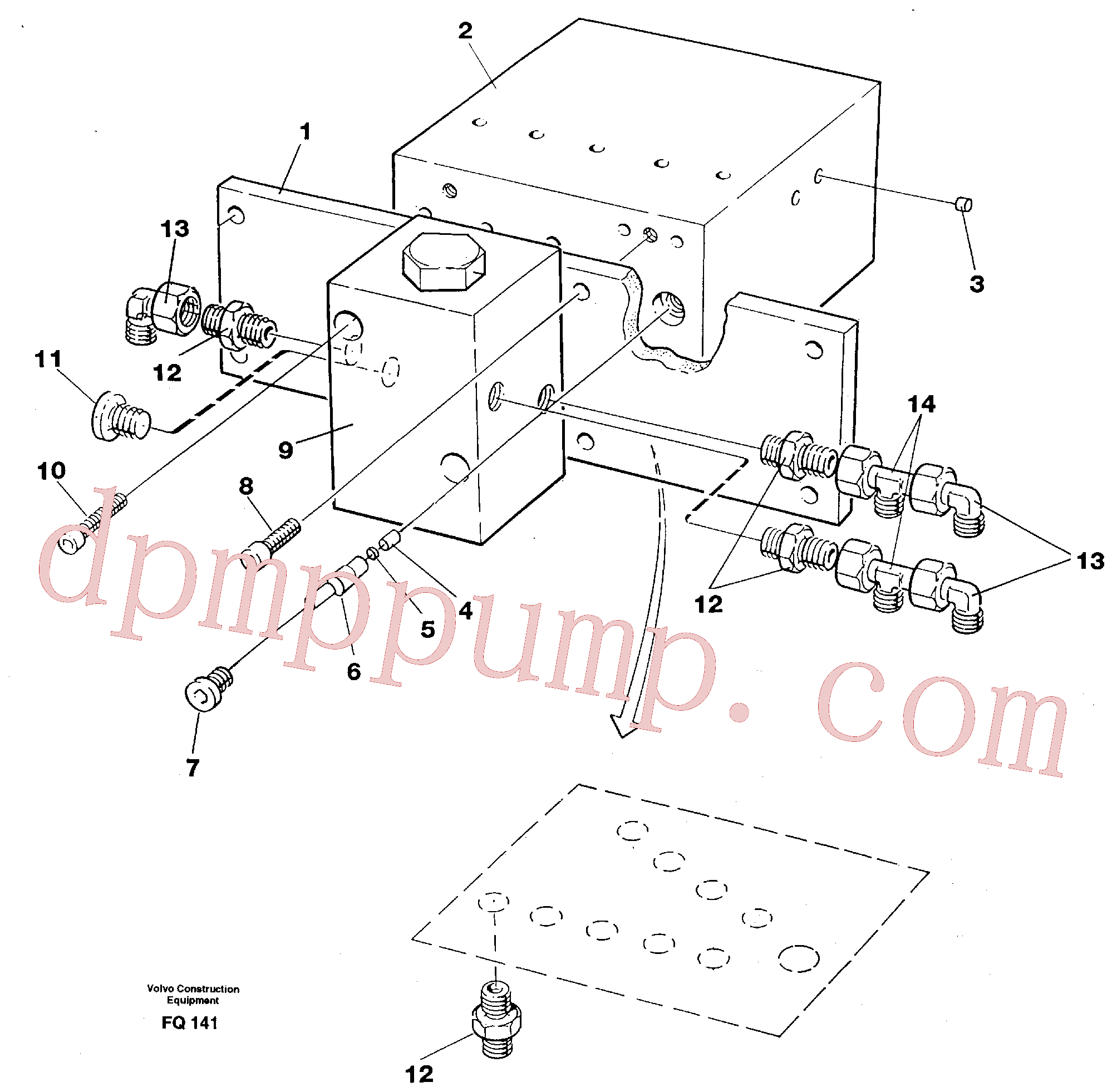 VOE11806339 for Volvo Control block, travel/servo(FQ141 assembly)