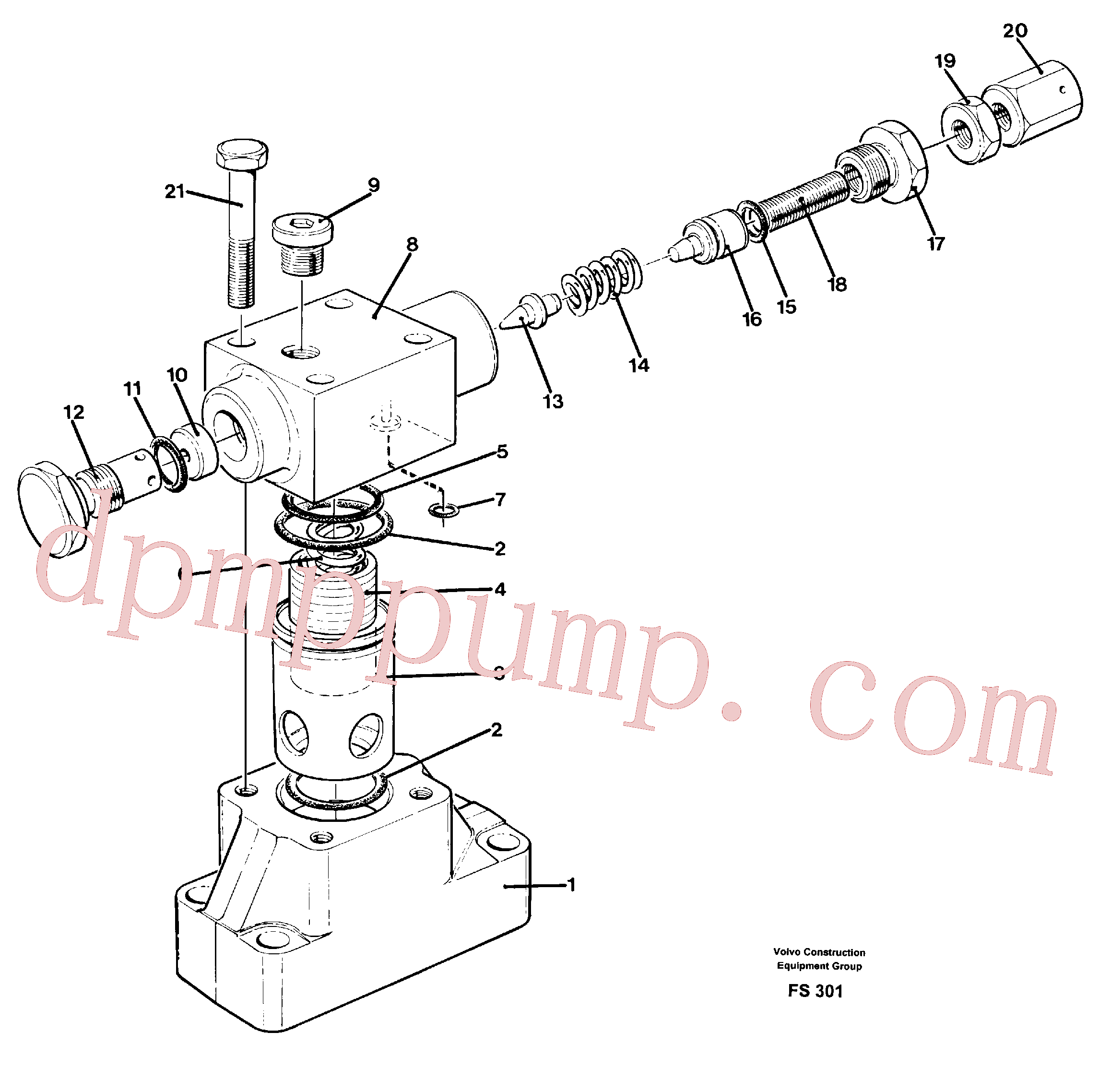VOE14241443 for Volvo Pressure limiting valve(FS301 assembly)