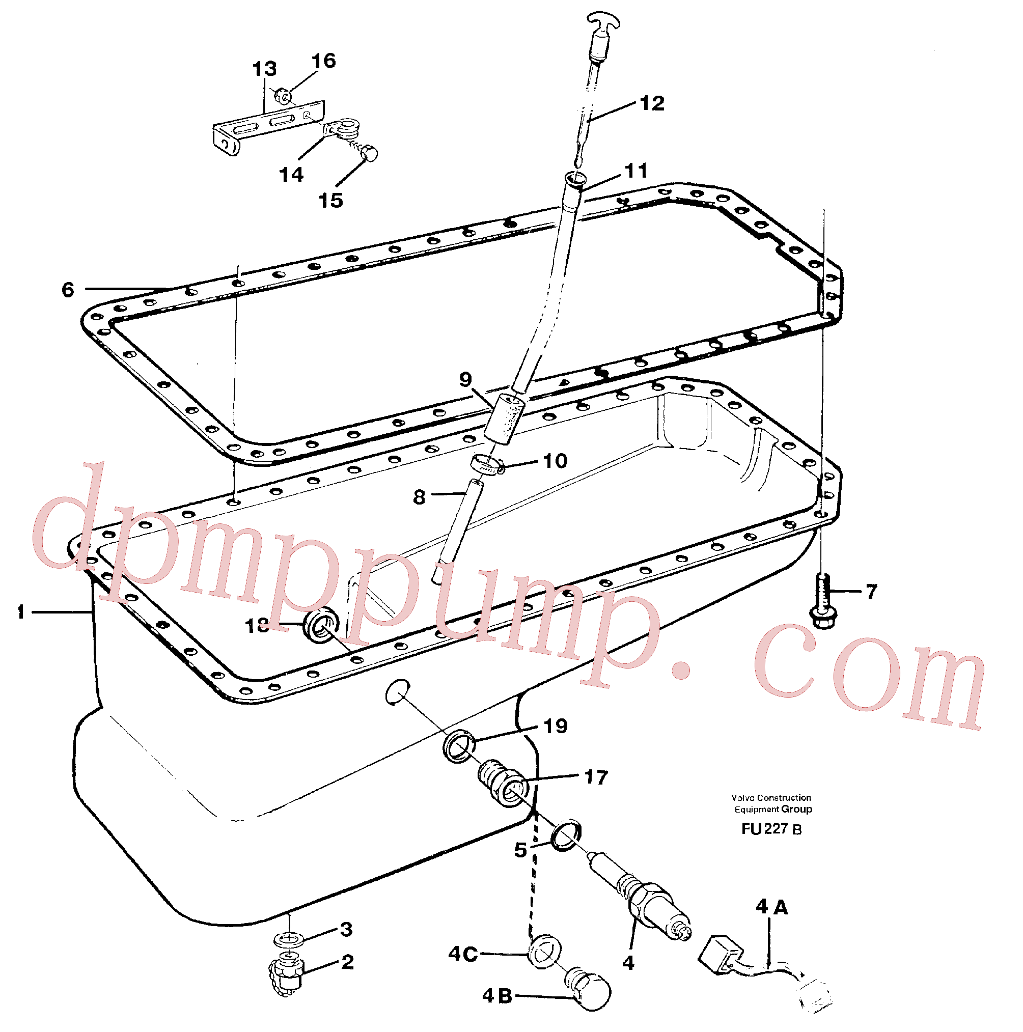 VOE14345271 for Volvo Oil sump(FU227B assembly)
