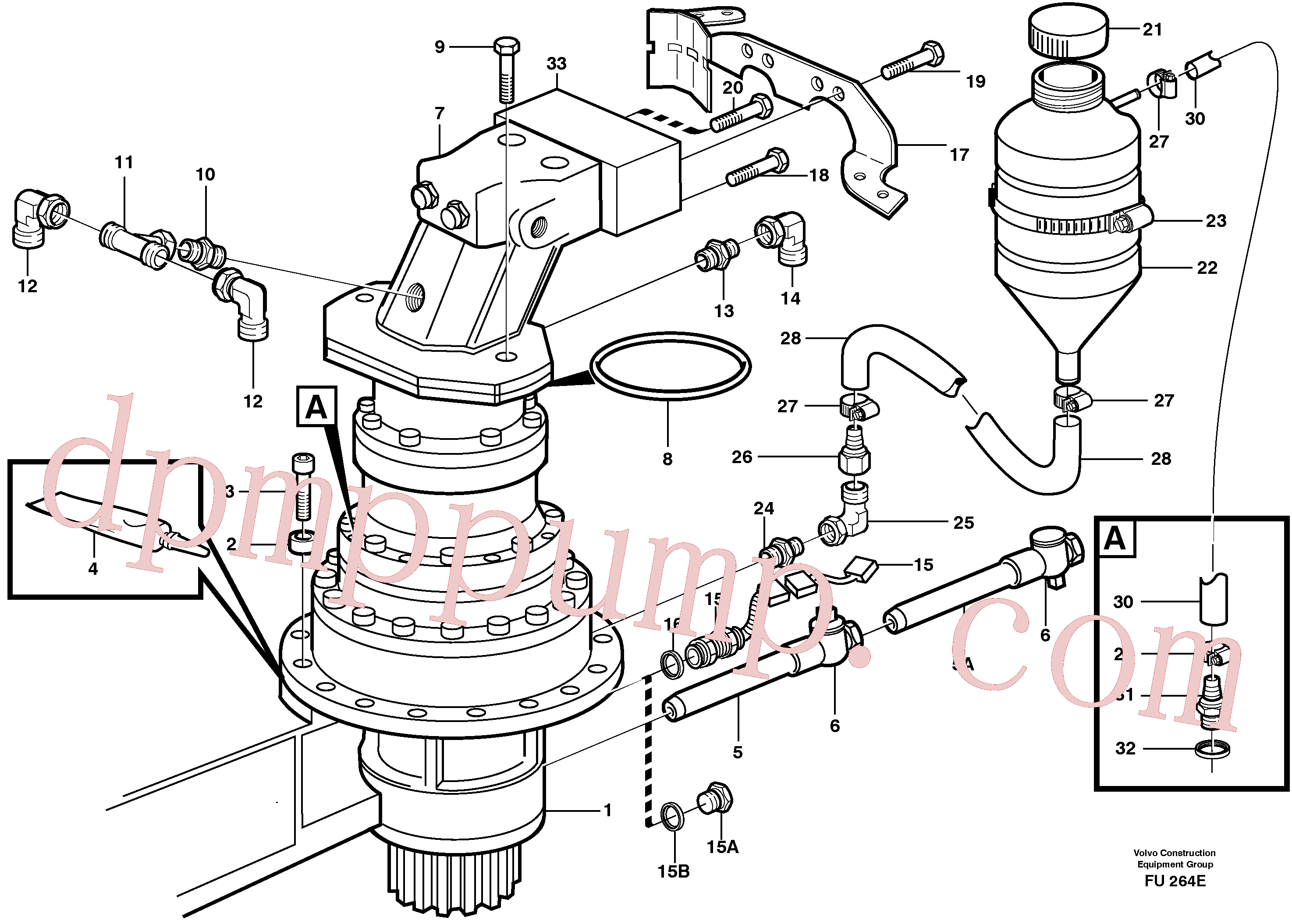 VOE14345271 for Volvo Swing gearbox with fitting parts(FU264E assembly)