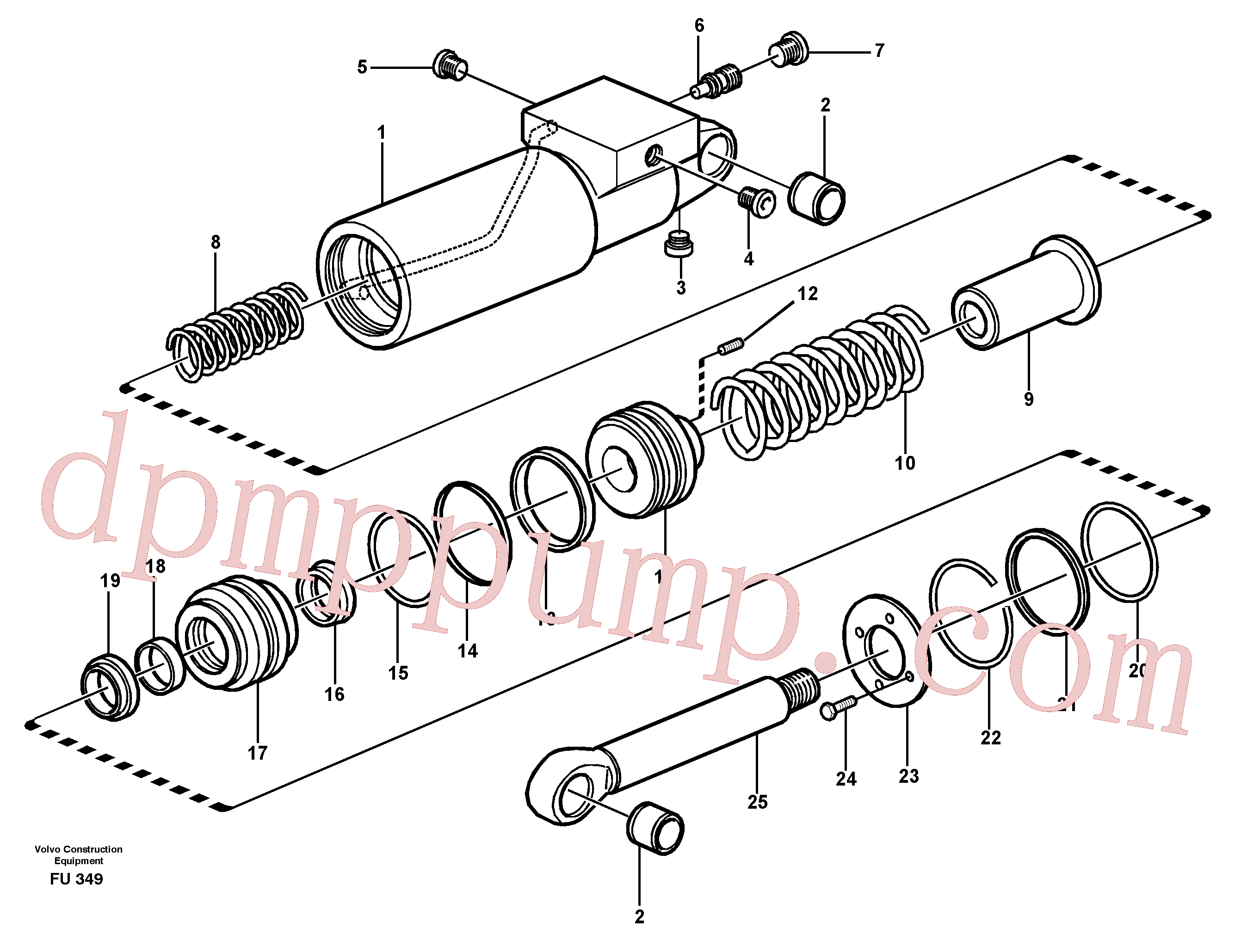 VOE11702311 for Volvo Hydraulic cylinder(FU349 assembly)