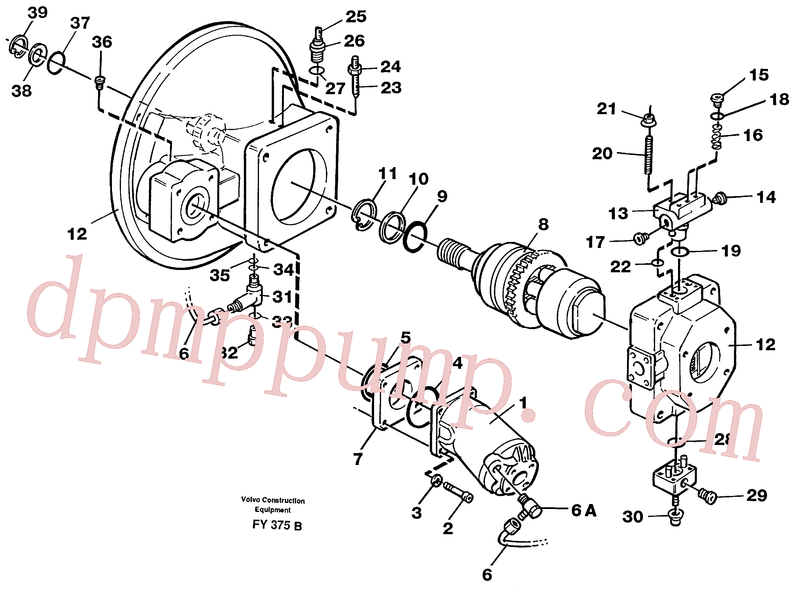 VOE11992753 for Volvo Pump gear box(FY375B assembly)