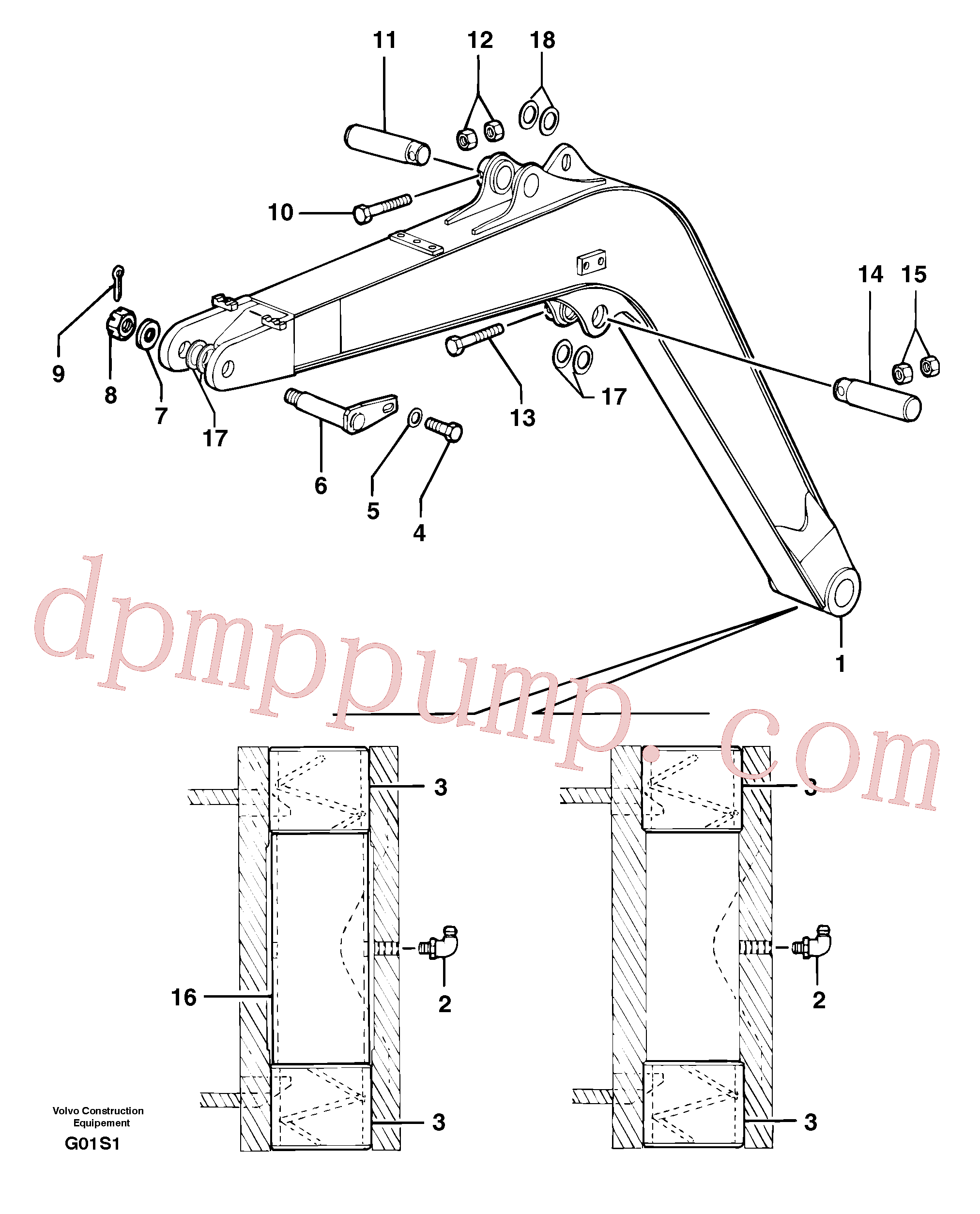PJ5540101 for Volvo Boom(G01S1 assembly)