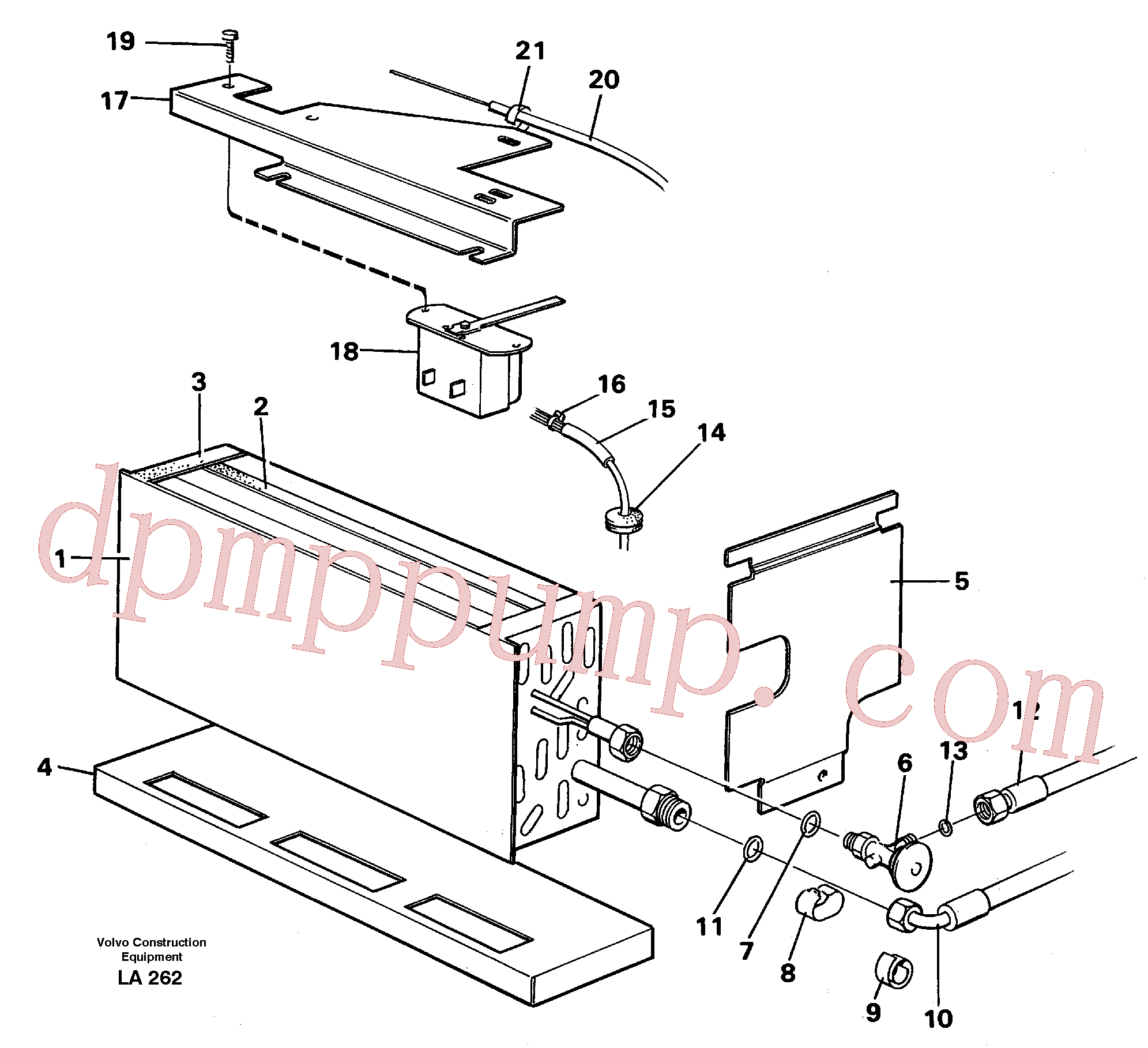 VOE14248807 for Volvo Evaporator with fitting parts Cooling agent R134 A(LA262 assembly)
