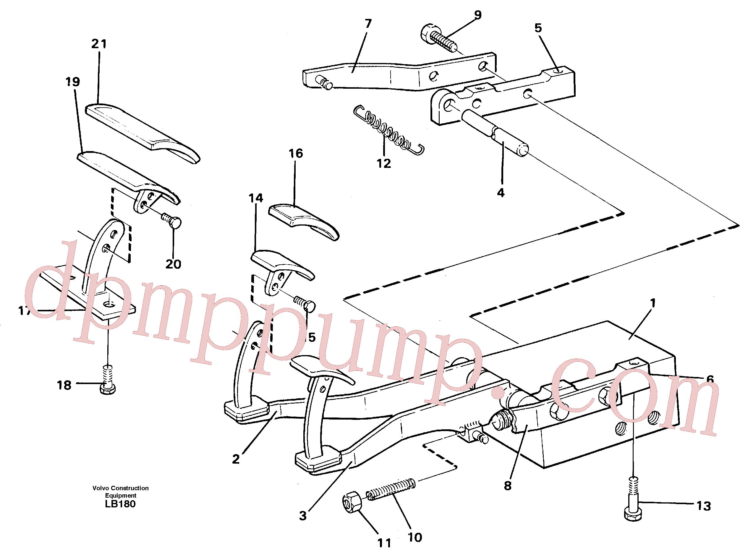 VOE14243546 for Volvo Pedal valve with foot rest(LB180 assembly)