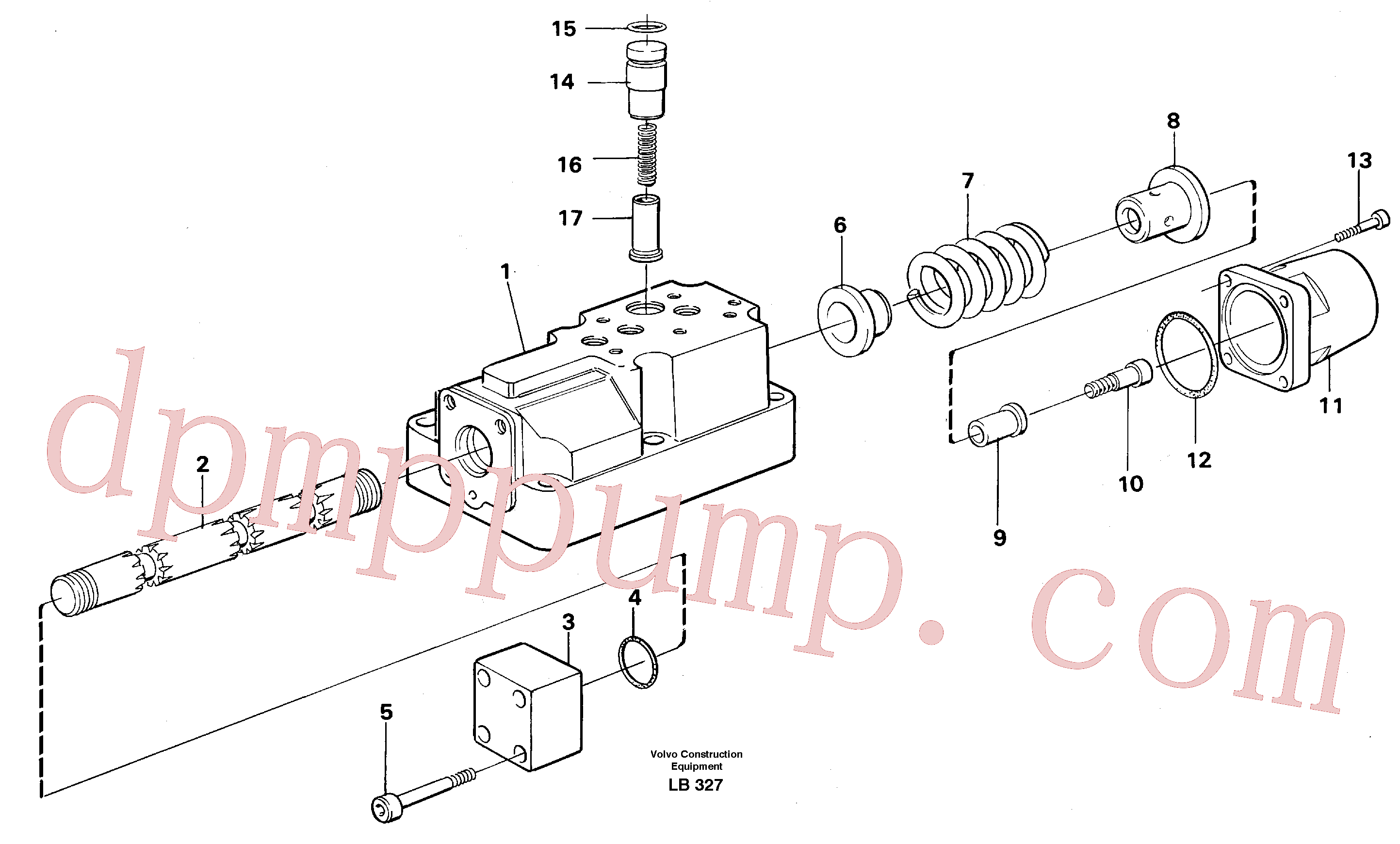 VOE14023264 for Volvo Four-way valve(LB327 assembly)