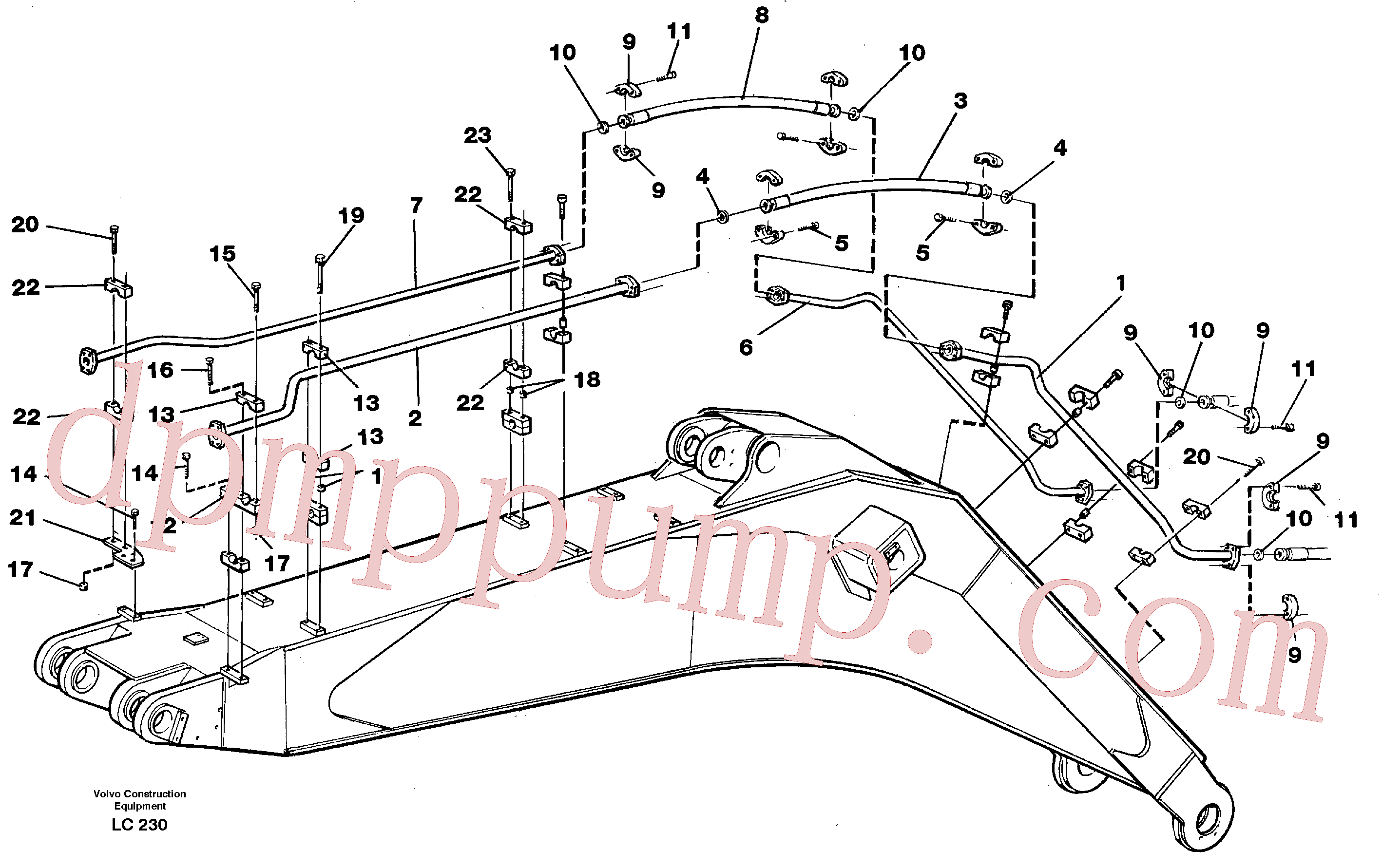 VOE14266229 for Volvo Hammer hydraulics on boom, 6.6 M(LC230 assembly)