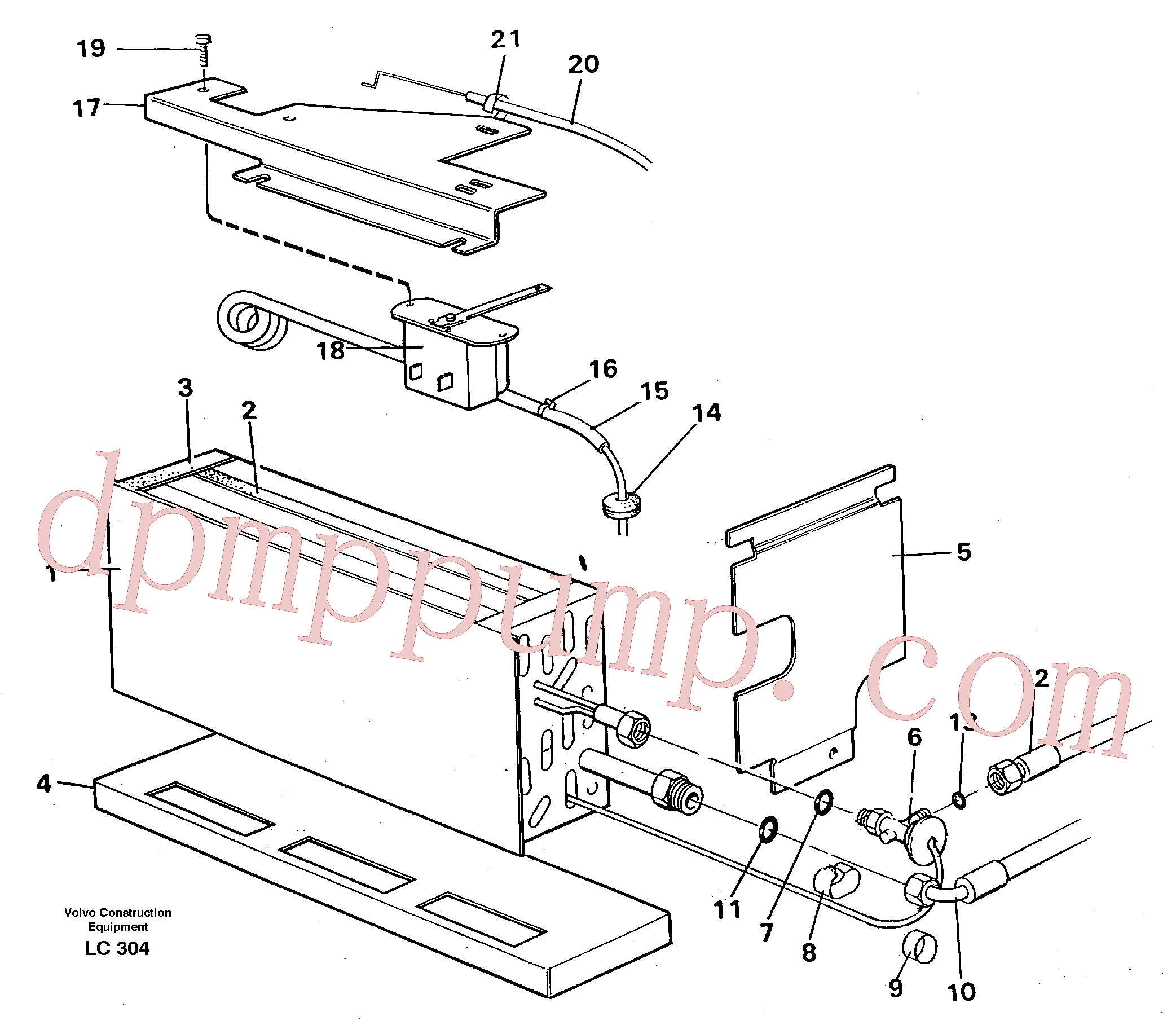 VOE14248807 for Volvo Evaporator with fitting parts, cooling agent R134a(LC304 assembly)